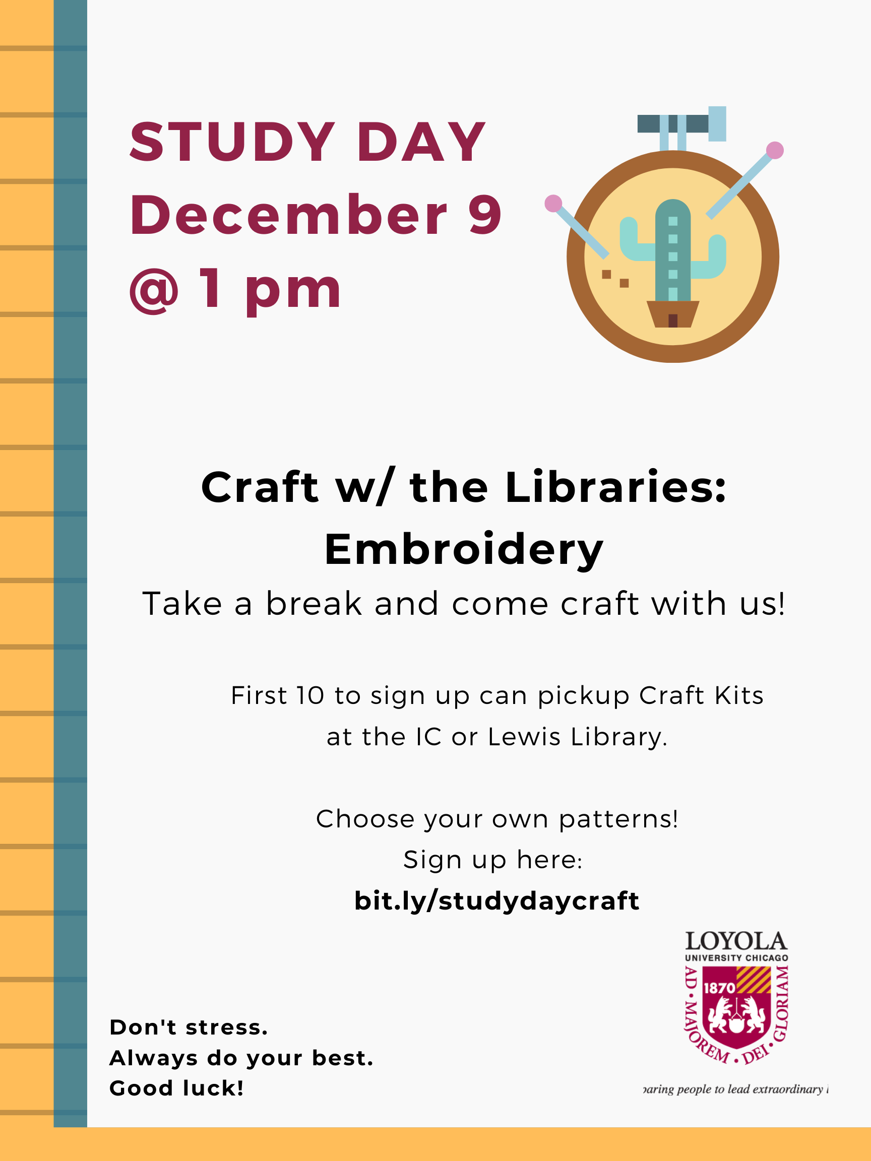 Study Day: Craft w/ the Libraries