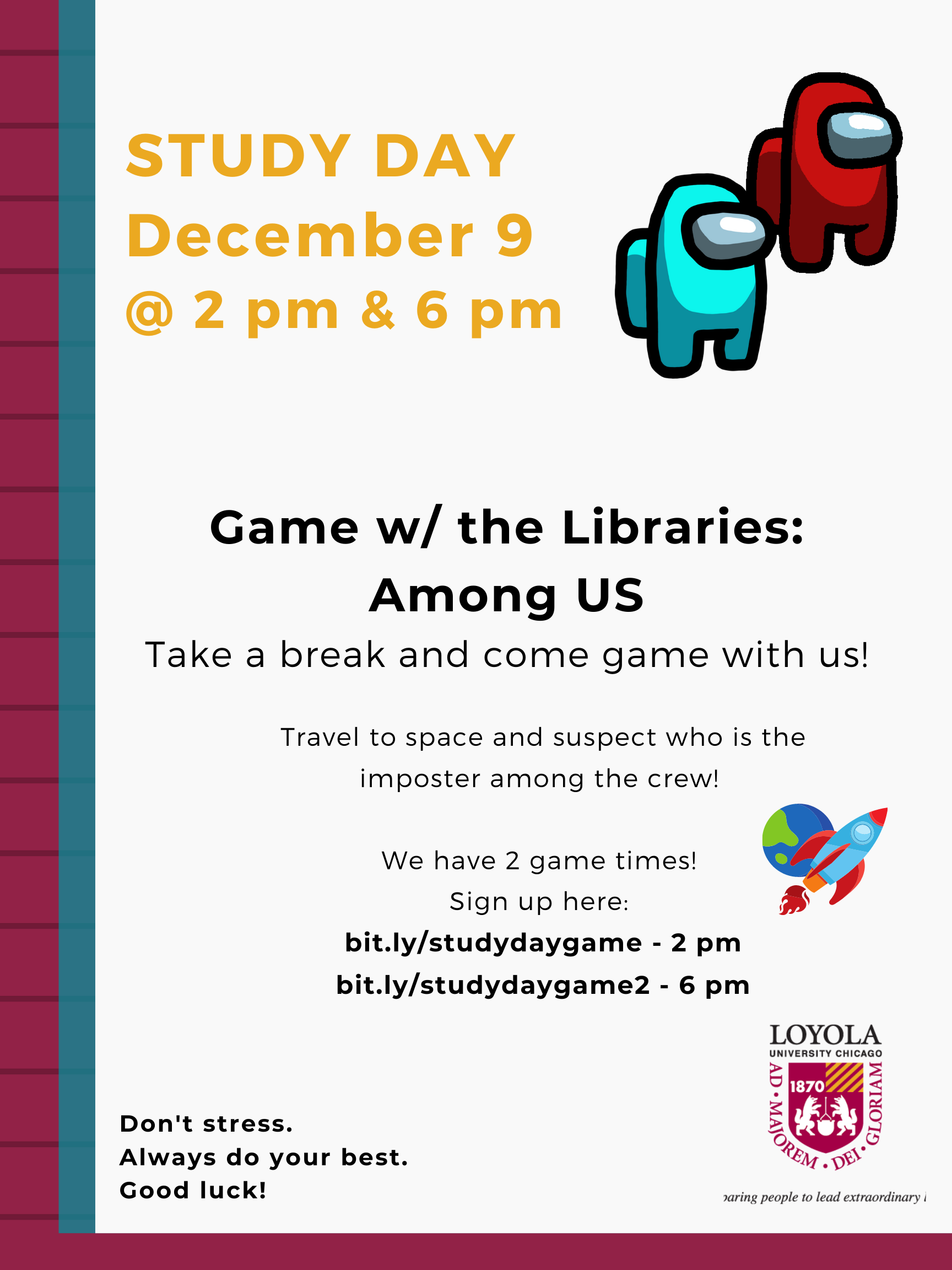 Study Day: Game w/ the Libraries