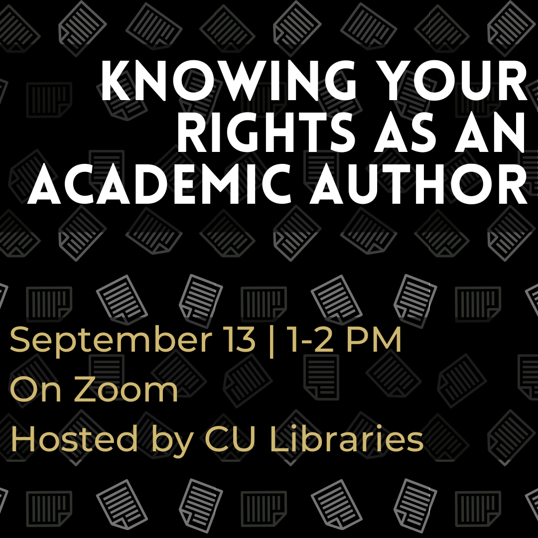 Knowing Your Rights as an Academic Author
