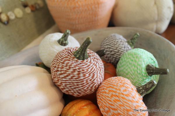 DIY - Baker's Twine Pumpkins