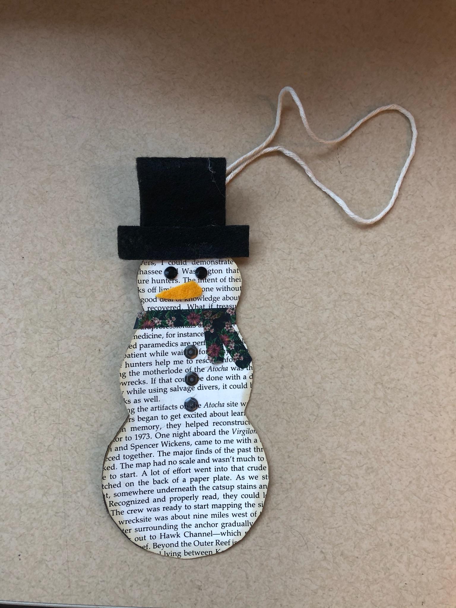 DIY - Book Page Snowman