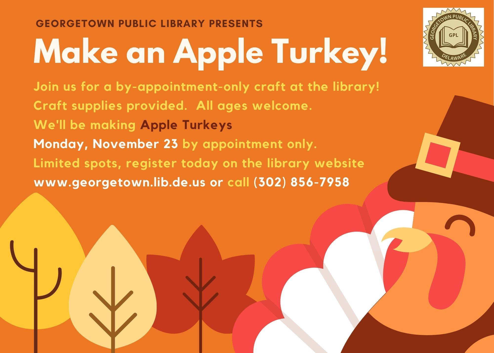 Thanksgiving Craft - Make Your Own Apple Turkey