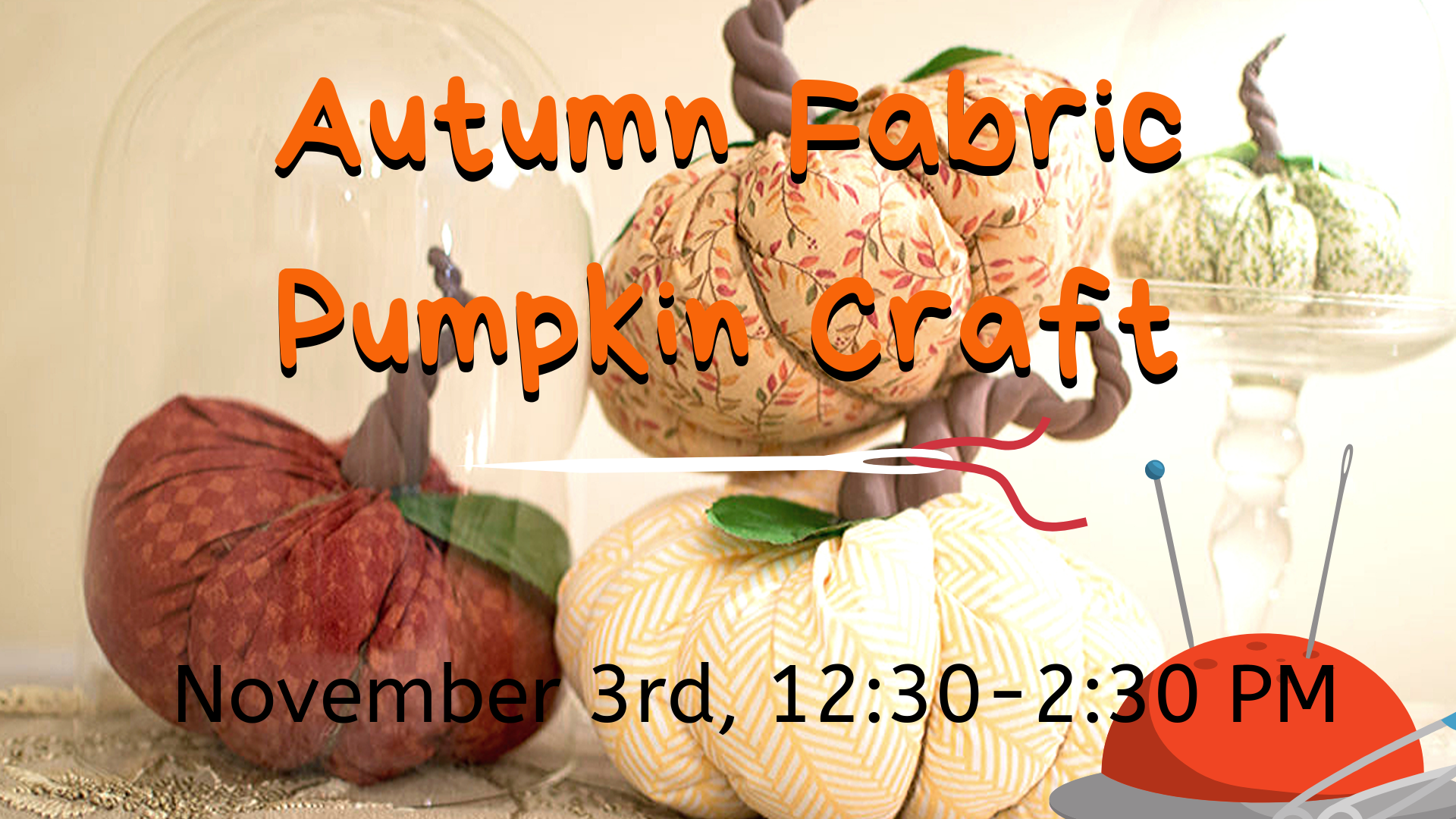 Autumn Fabric Pumpkin Craft