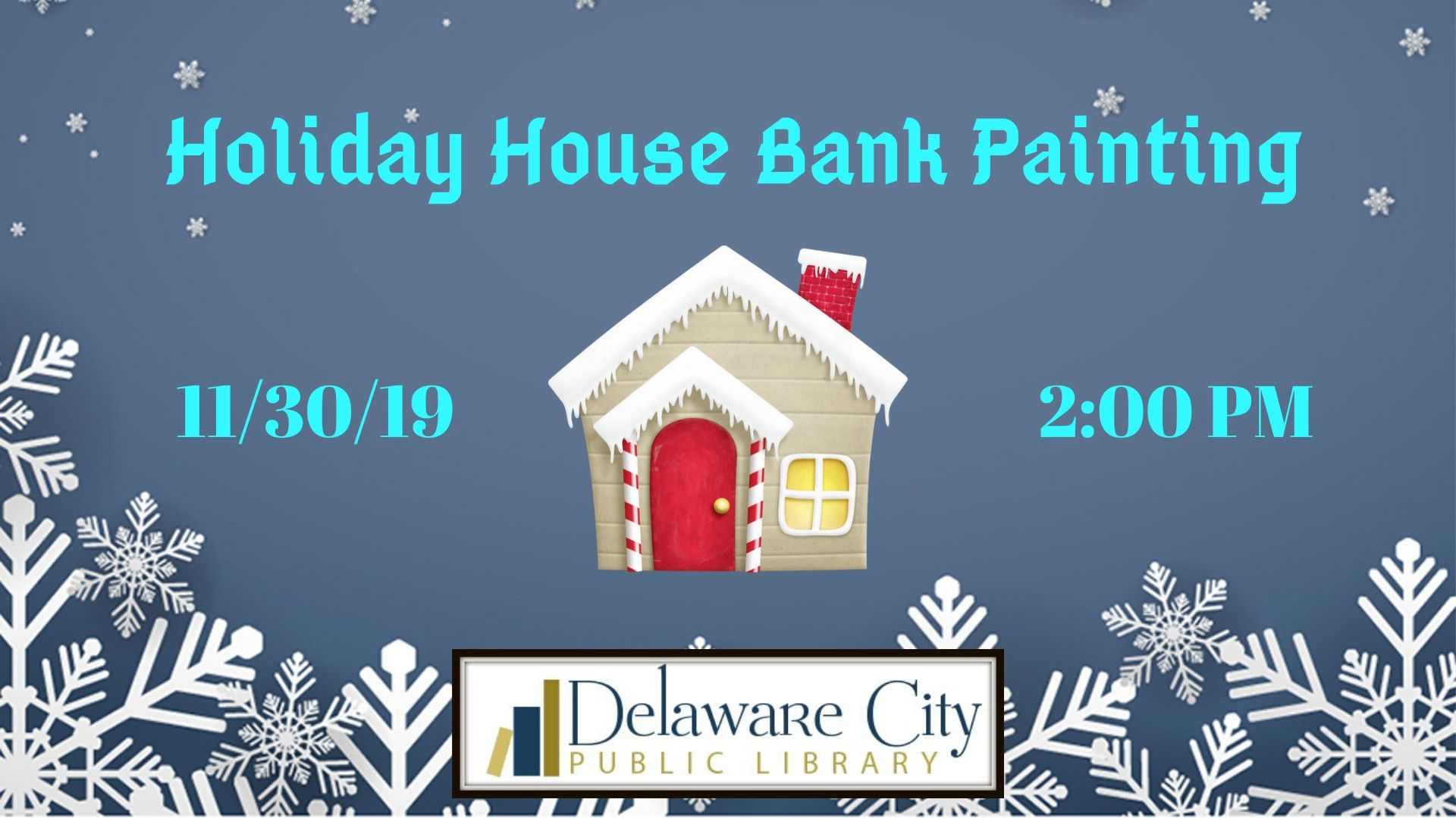 Holiday House Bank Painting