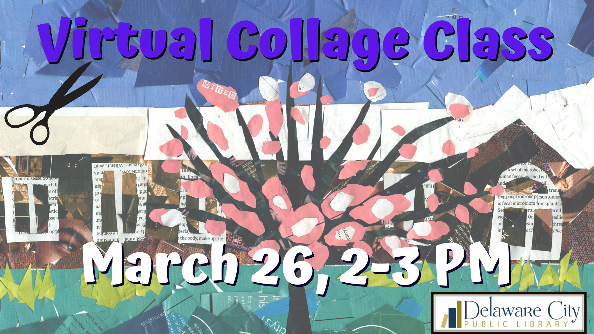 Collage Class with the Delaware City Library