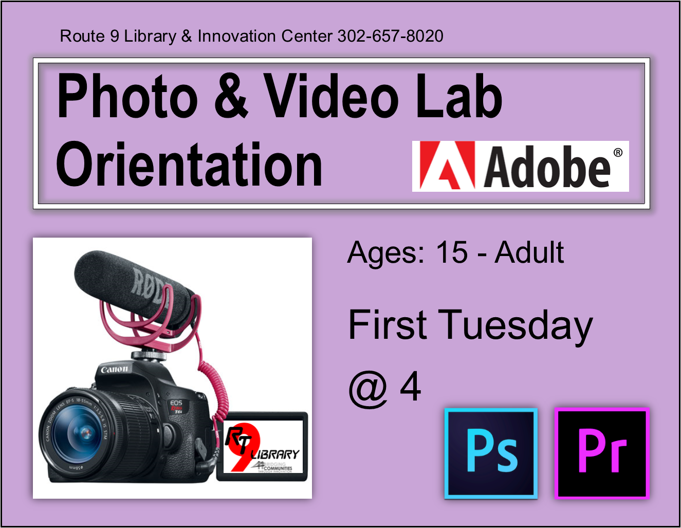 CANCELLED - Photo & Video Lab Orientation