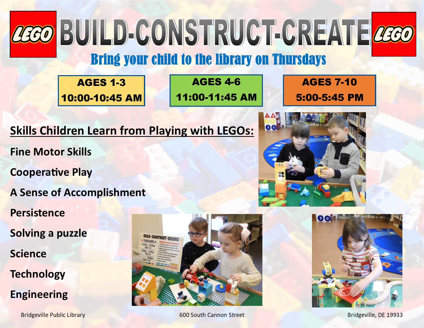 Build~Construct Create for Ages 4-6 Years