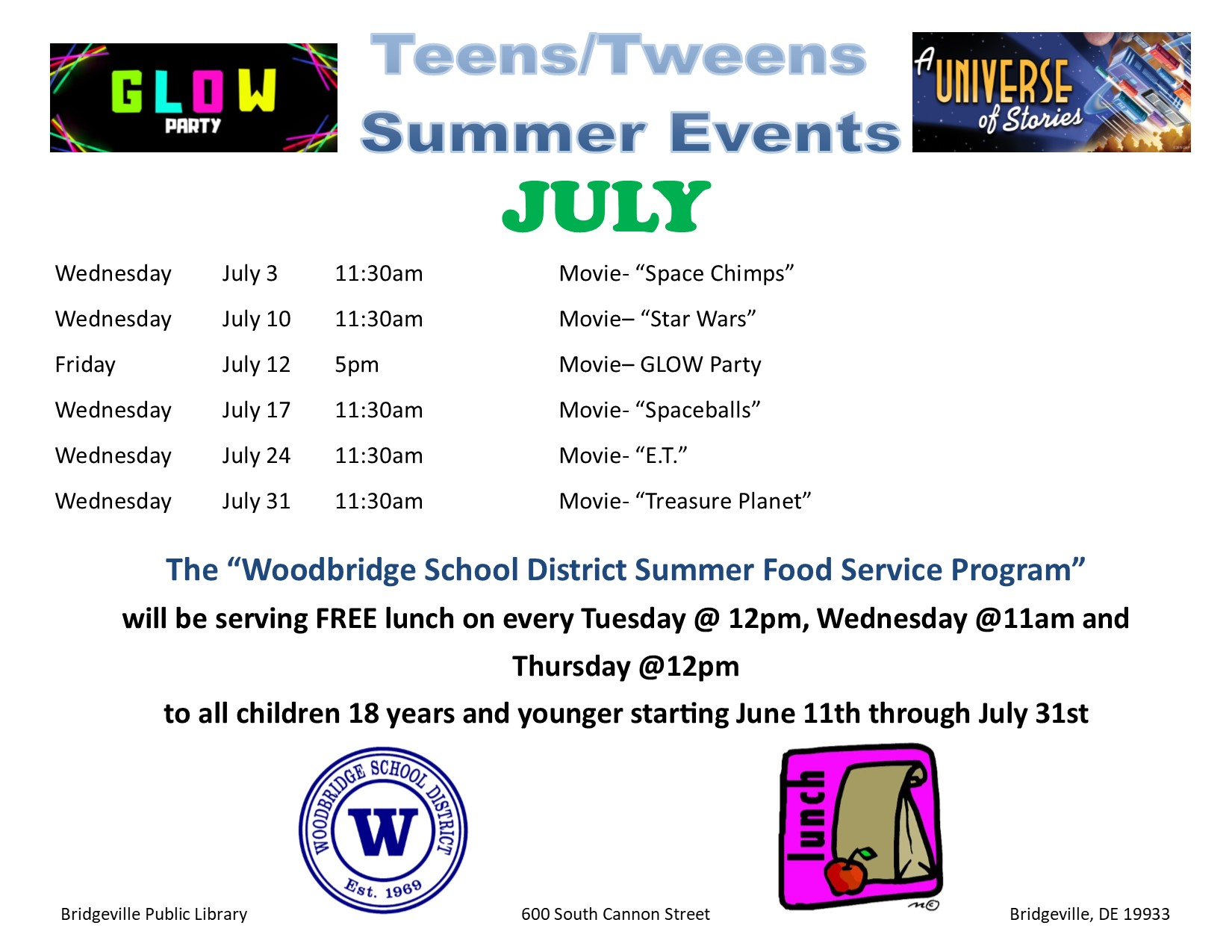 Teen Summer Reading Program-Movie