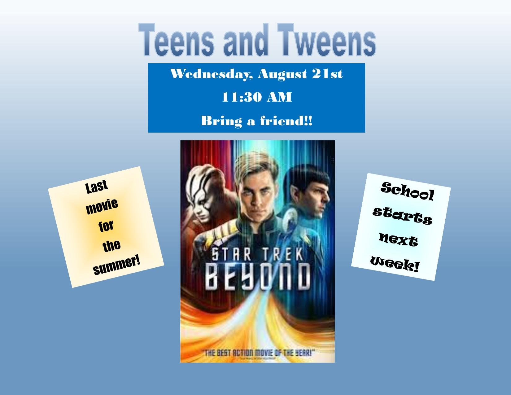 Teen Summer Reading Program-Movie