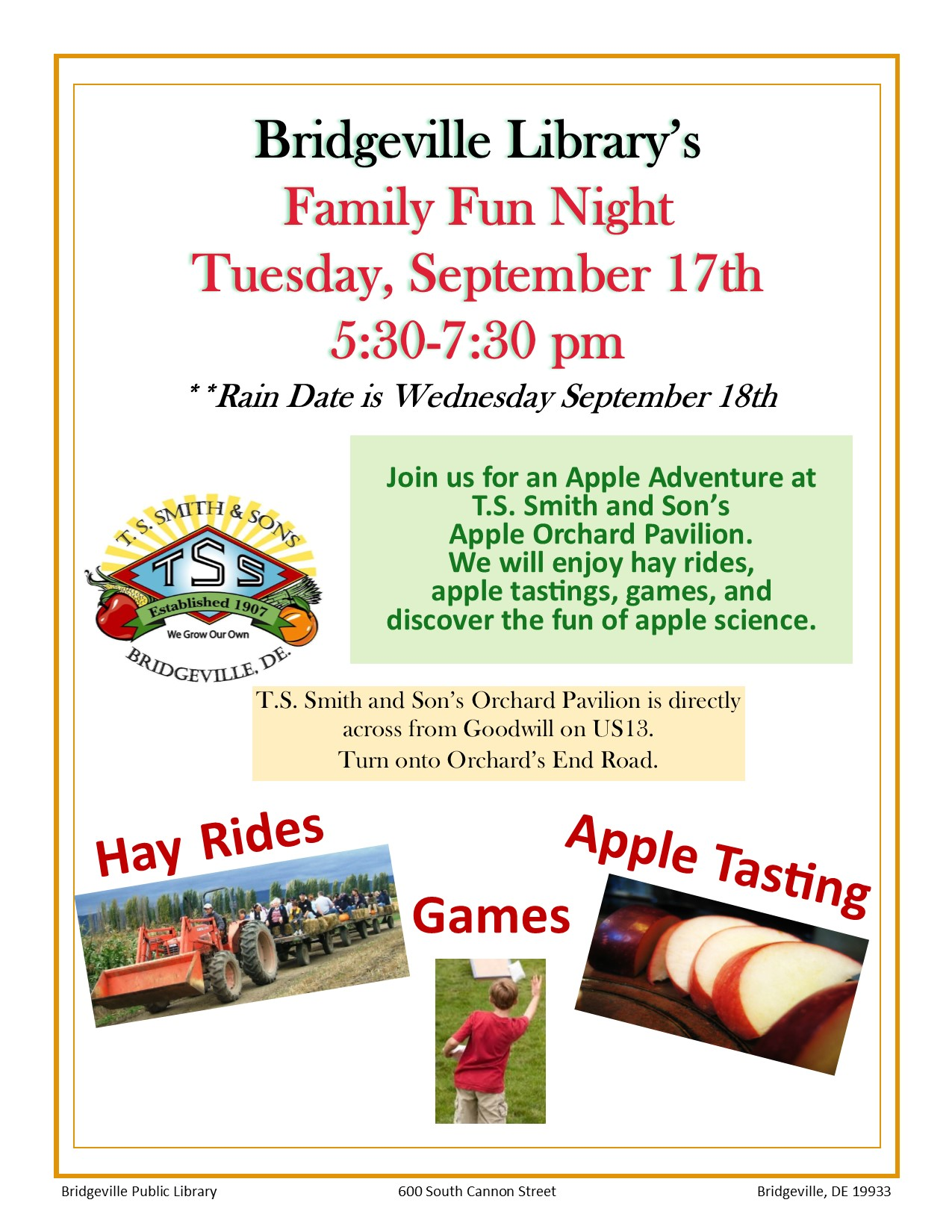 Family Fun Night- T.S. Smith's