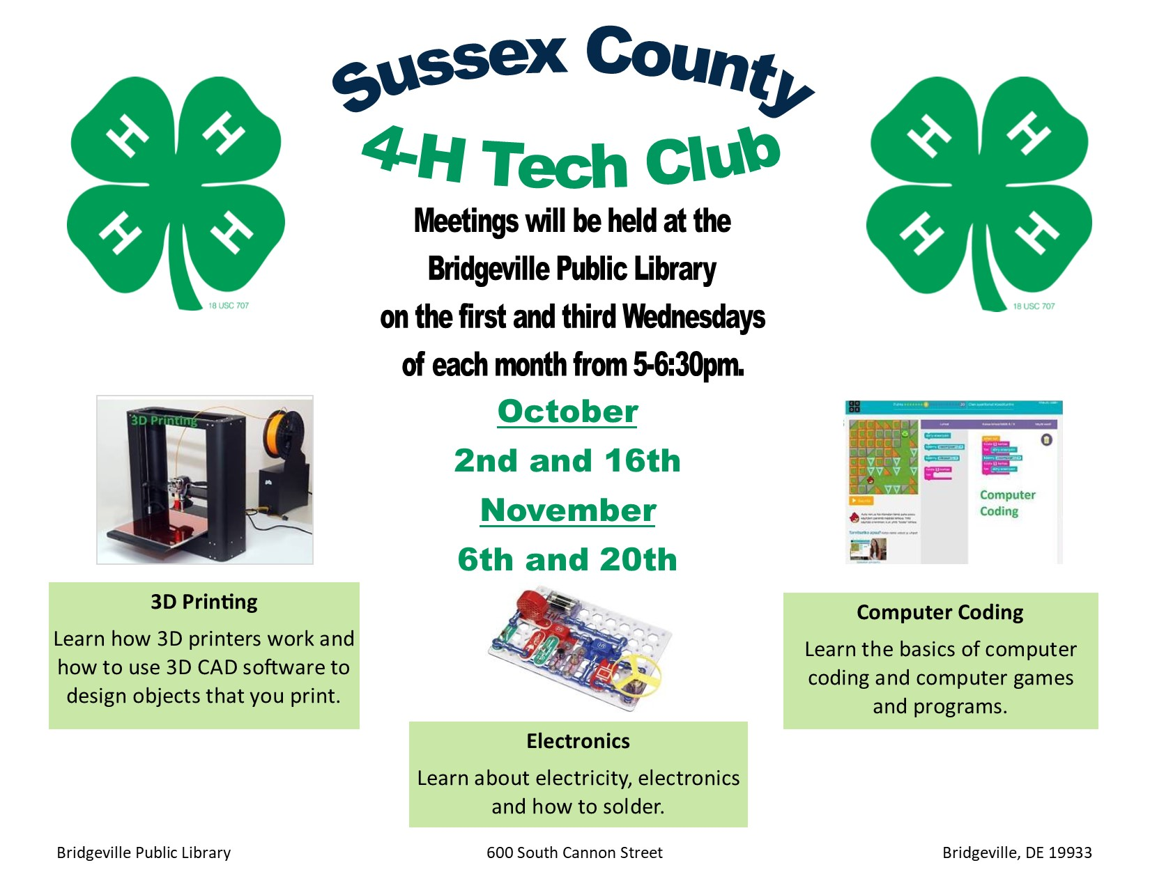 Sussex County 4-H Tech Club