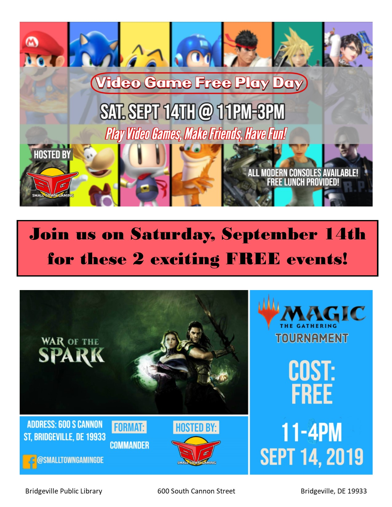 FREE Gaming/Magic Tournament