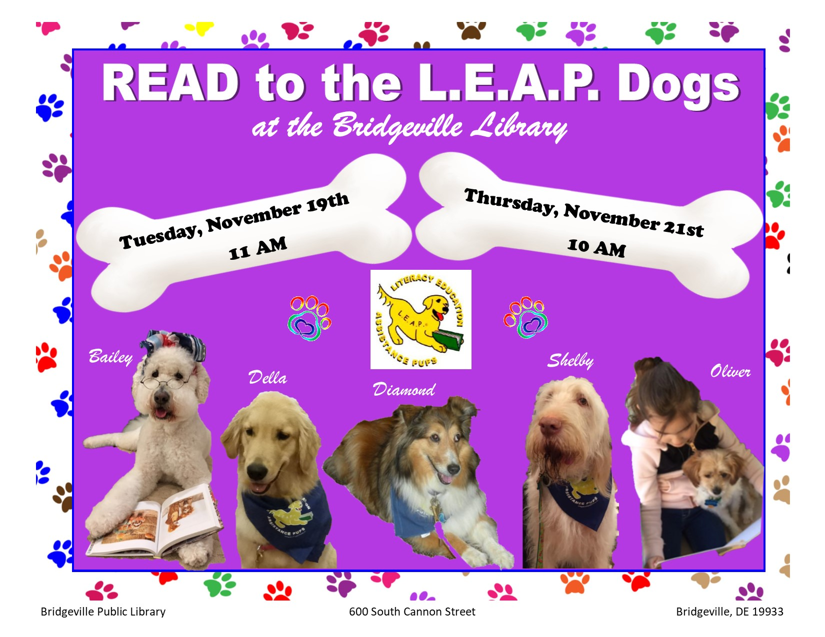 Story Time/LEAP Dogs