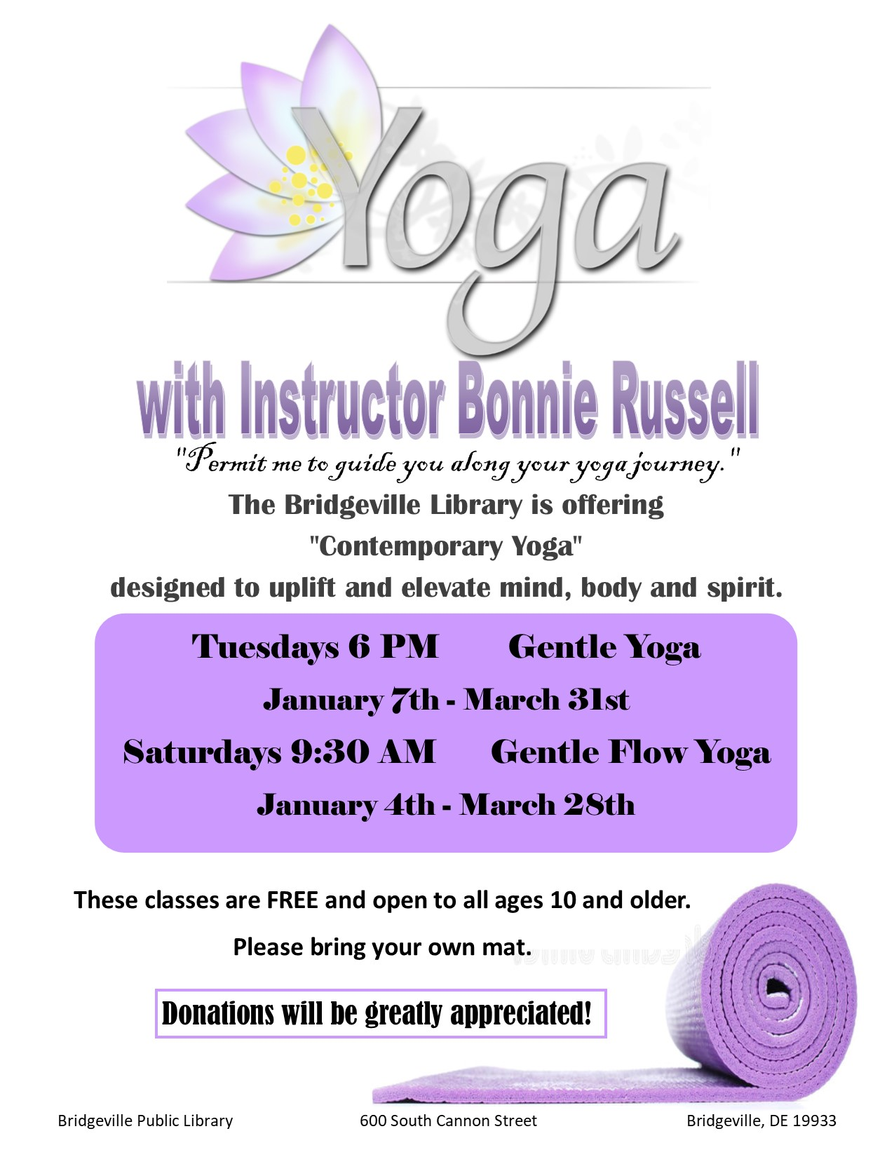 Gentle Yoga with Bonnie-cancelled