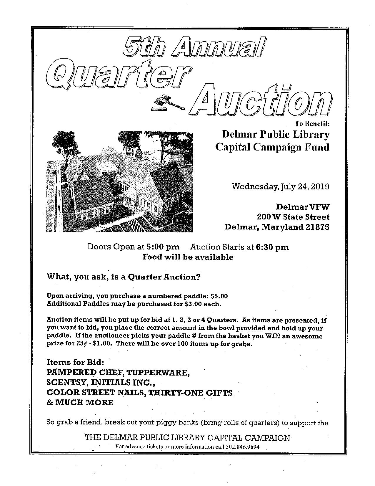 FUNDRAISER: Quarter Auction