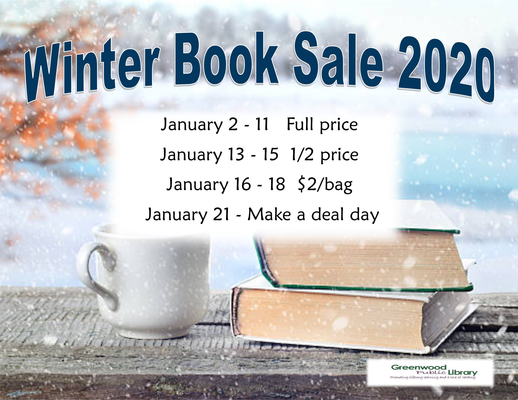 CANCELLED - Winter Book Sale
