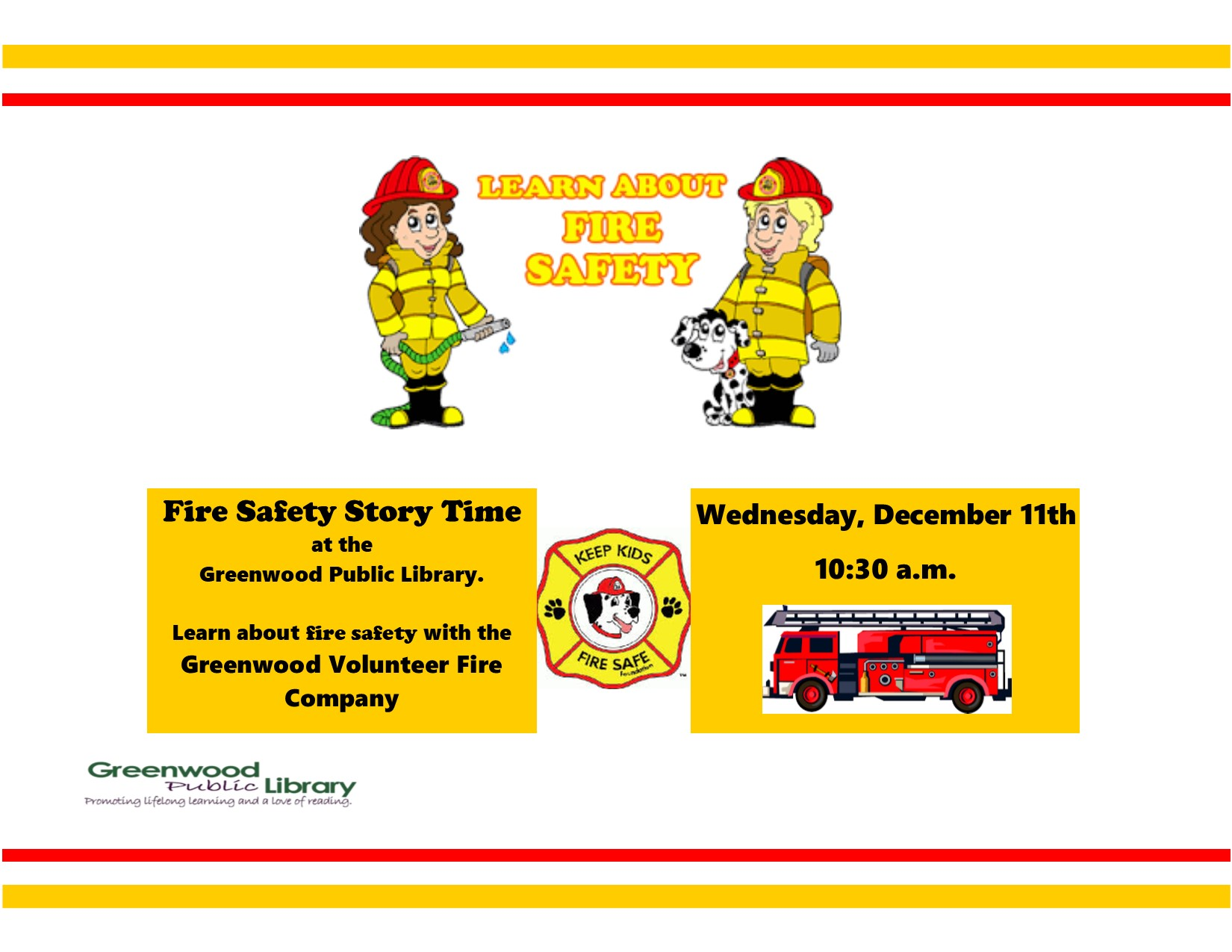 CANCELLED - Fire Safety Story Time