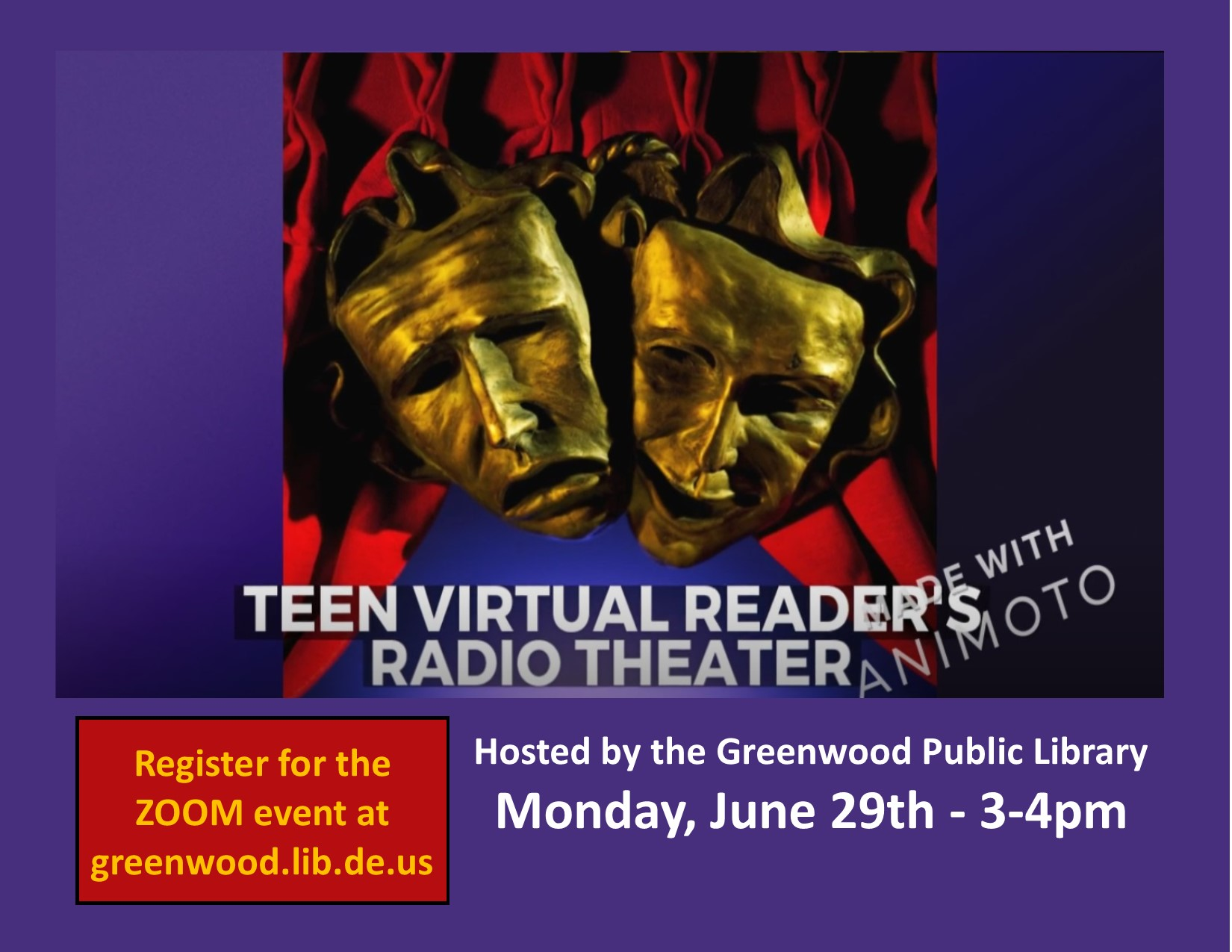 Greenwood Library's Virtual Reader's/Radio Theater