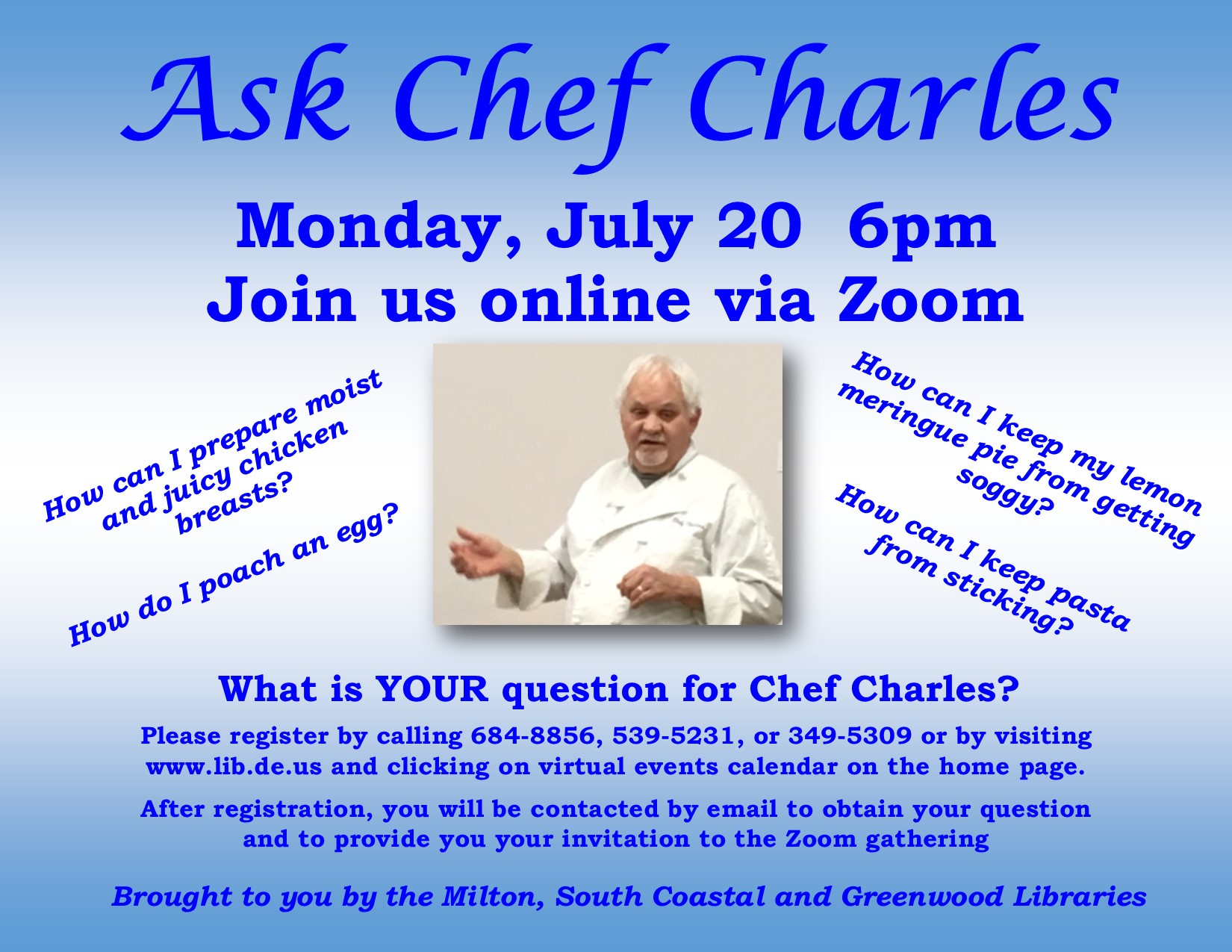 Ask Chef Charles Virtual Cooking Class