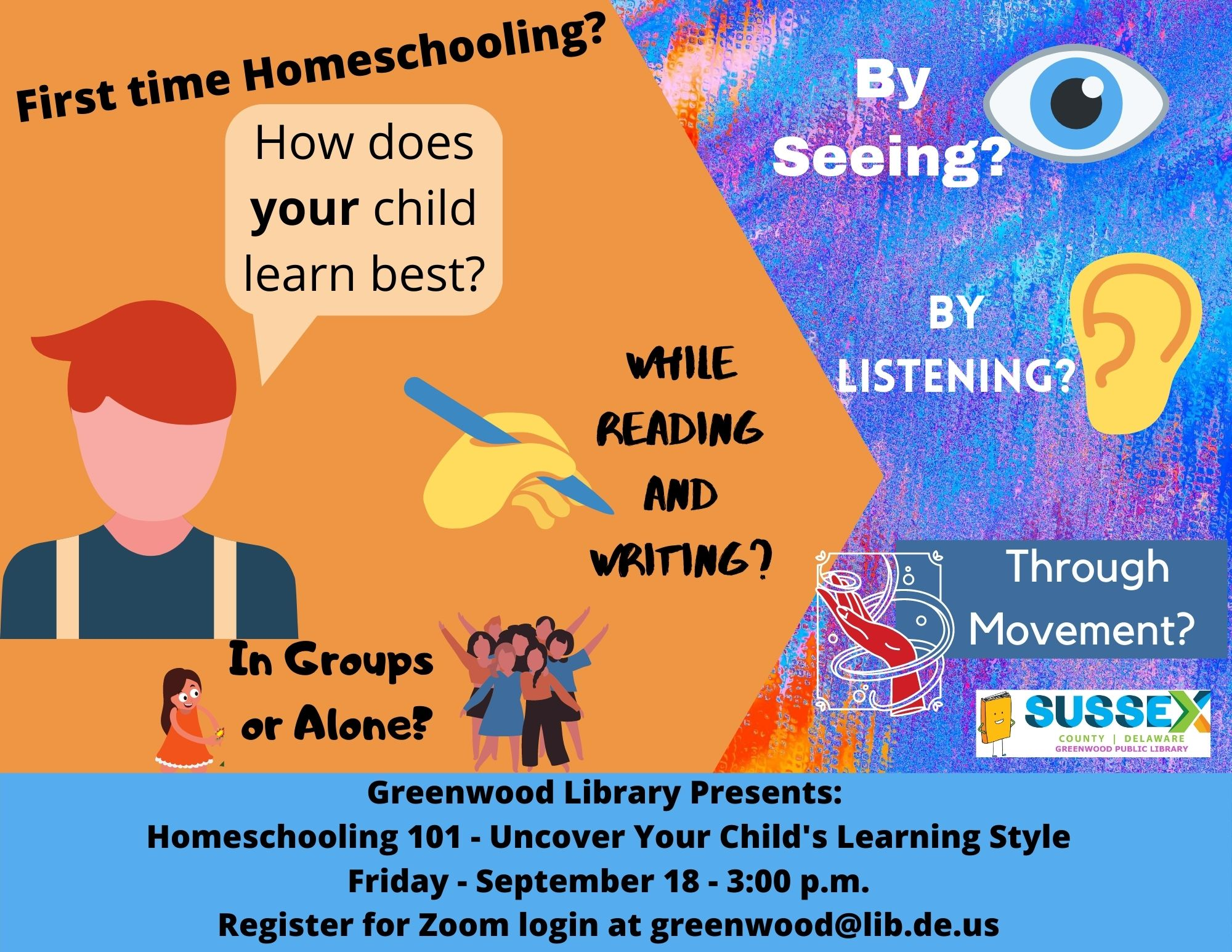 Homeschooling 101: Uncover Your Child's Learning Style (Online)