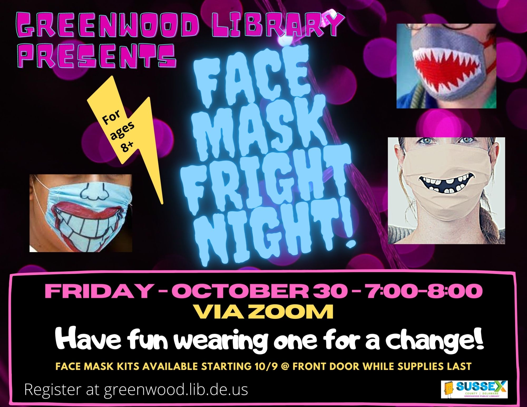 Face Mask Fright Night Teens and Tweens