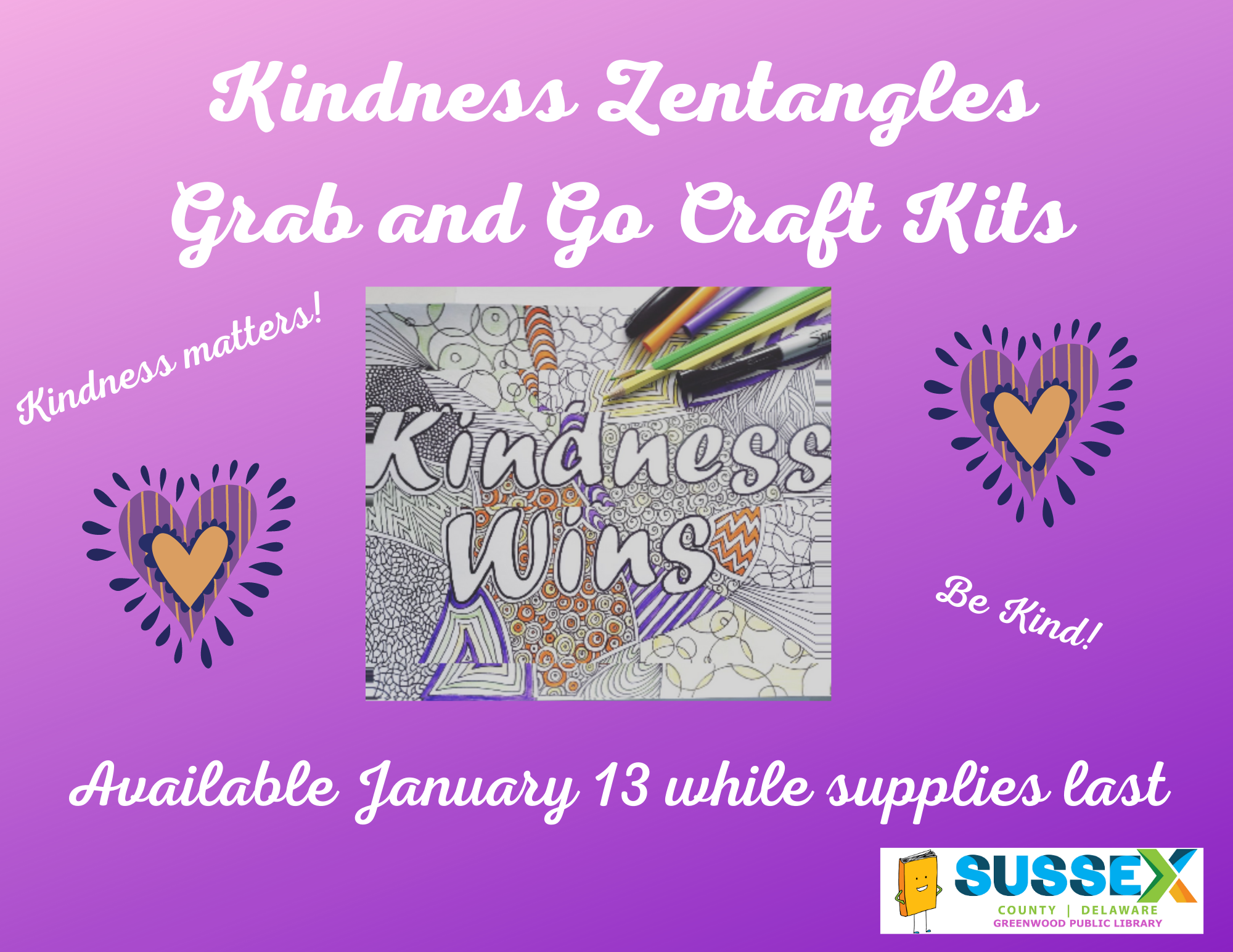 Kindness-Inspired Zentangles Grab and Go Craft Kits
