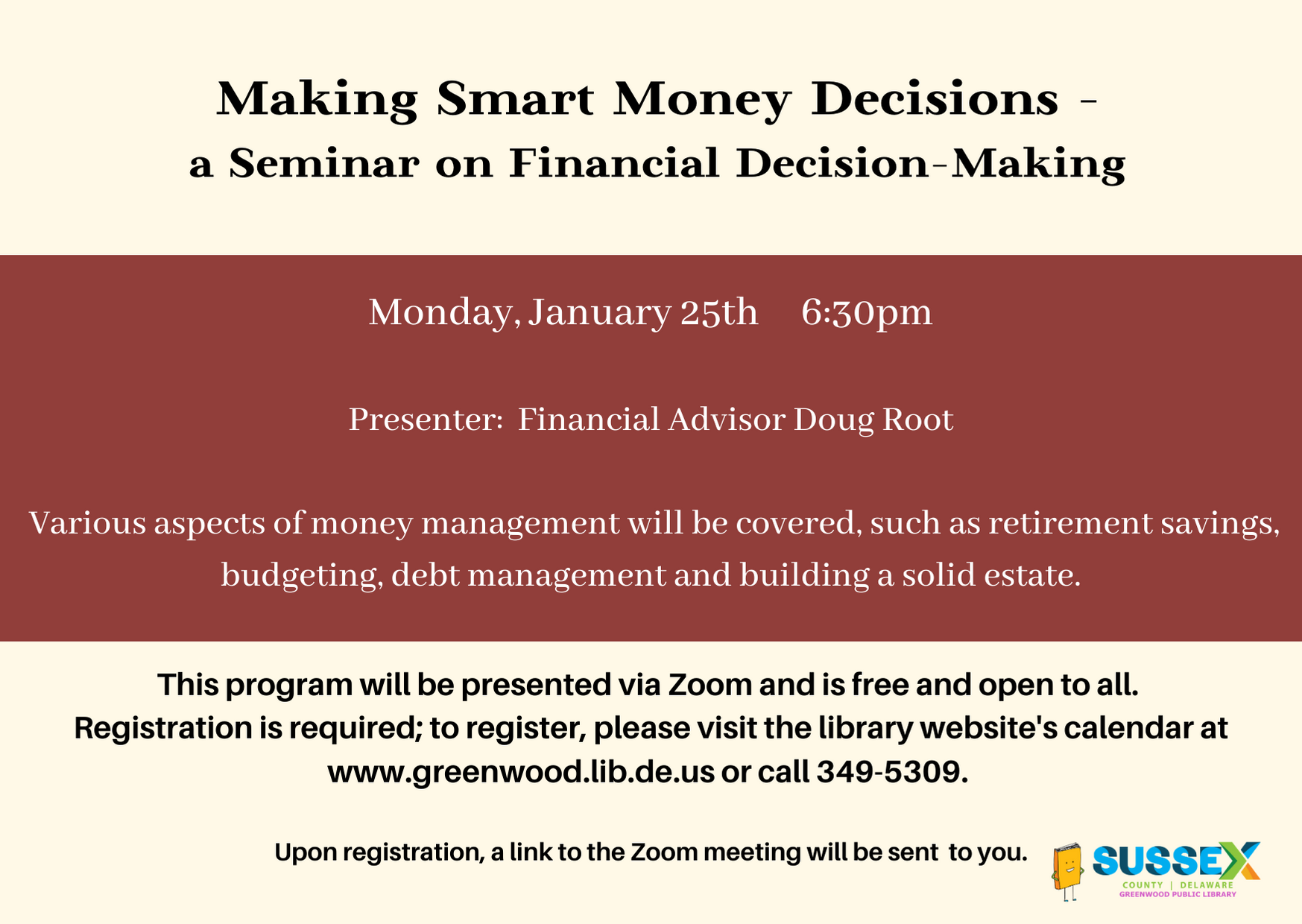 Making Smart Money Decisions - a Seminar on Financial Decision-Making