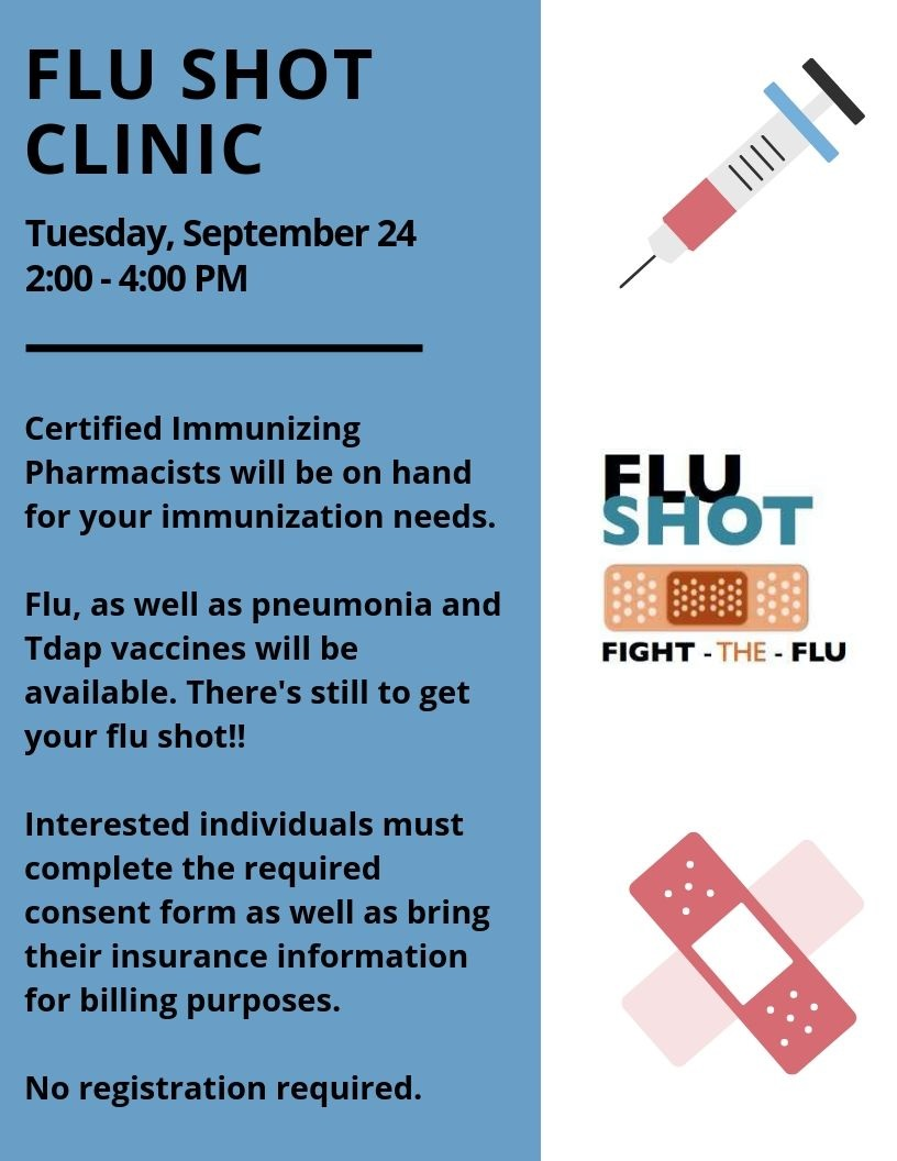 Table in the Lobby: Rite Aid Flu Shot Clinic