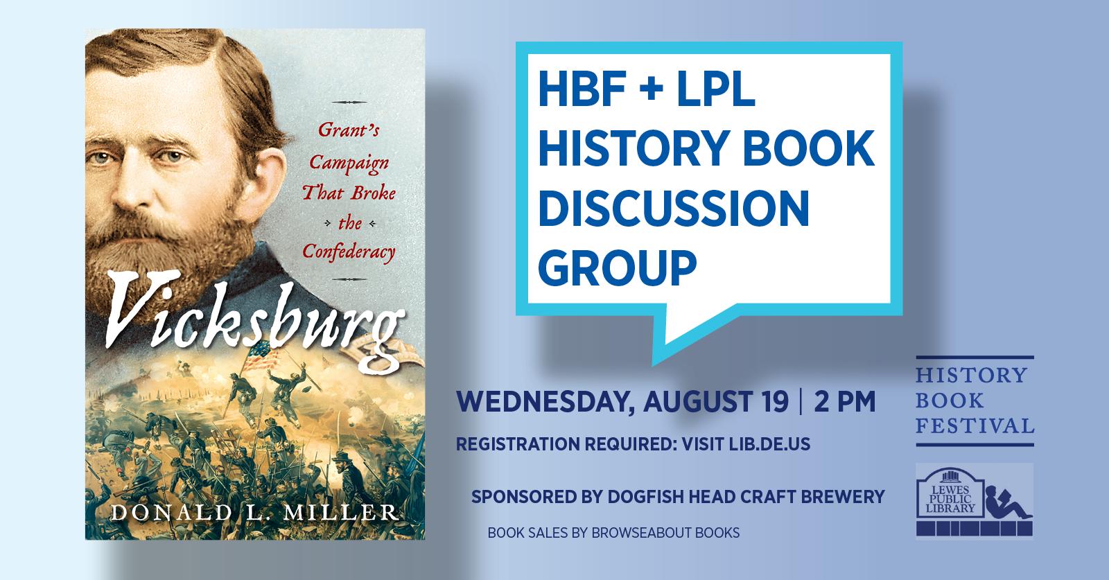 History Book Festival presents Donald L. Miller | Vicksburg