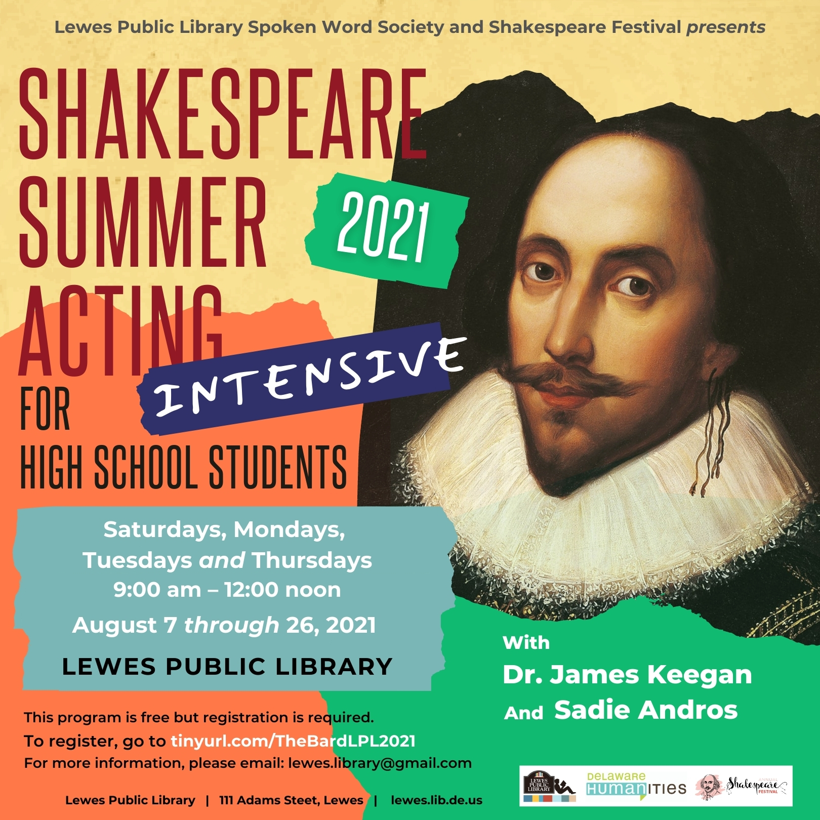 Shakespeare Summer Acting Intensive for High School Students