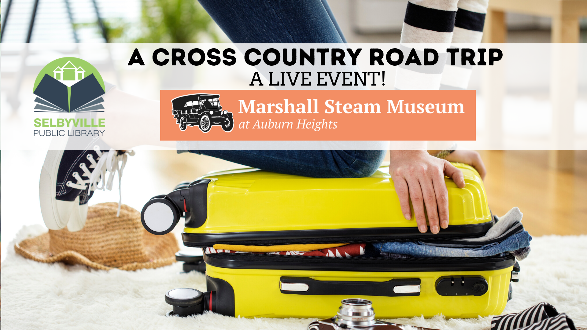 Cross Country Road Trip - LIVE! // Marshall Steam Museum