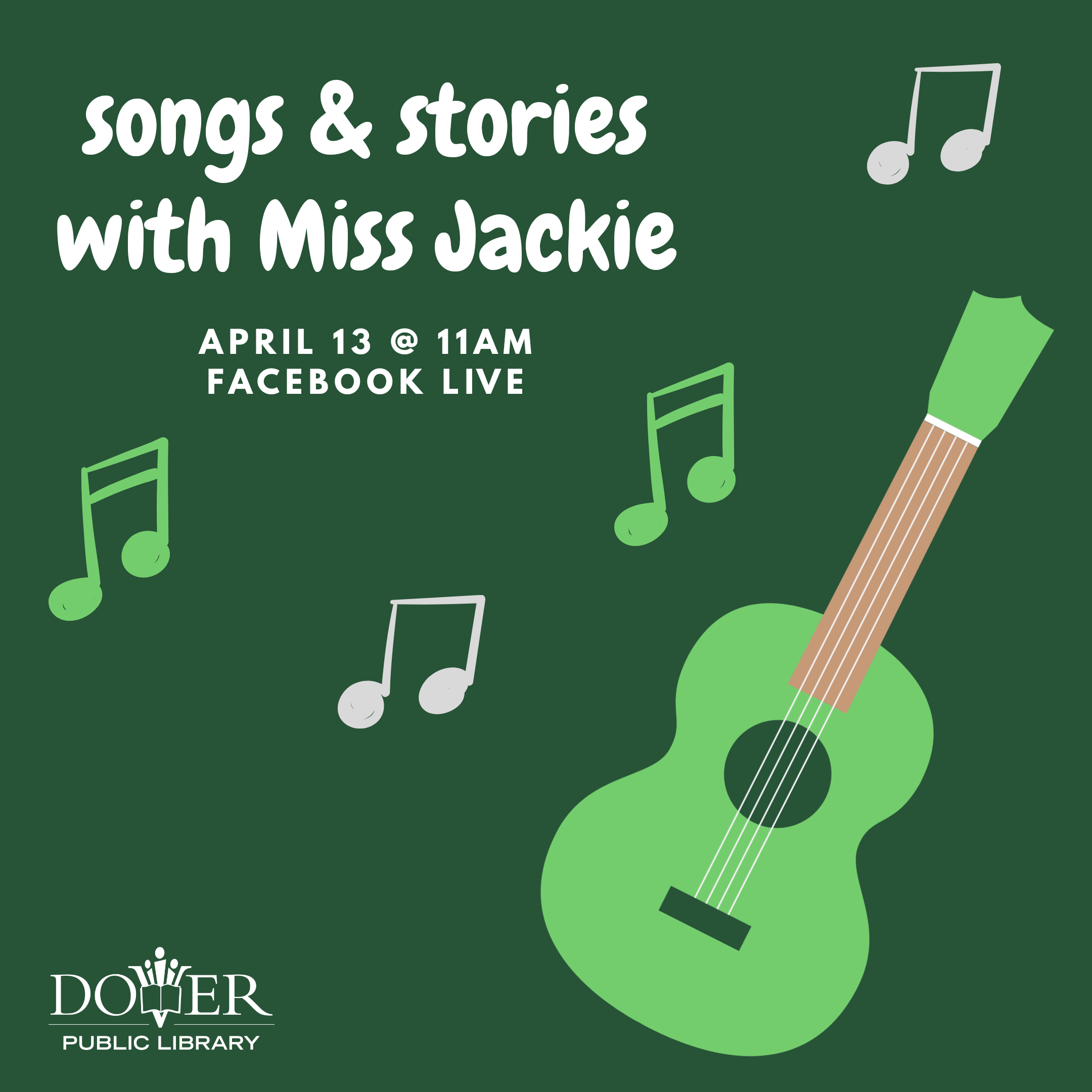 Songs & Stories with Miss Jackie at the Dover Public Library