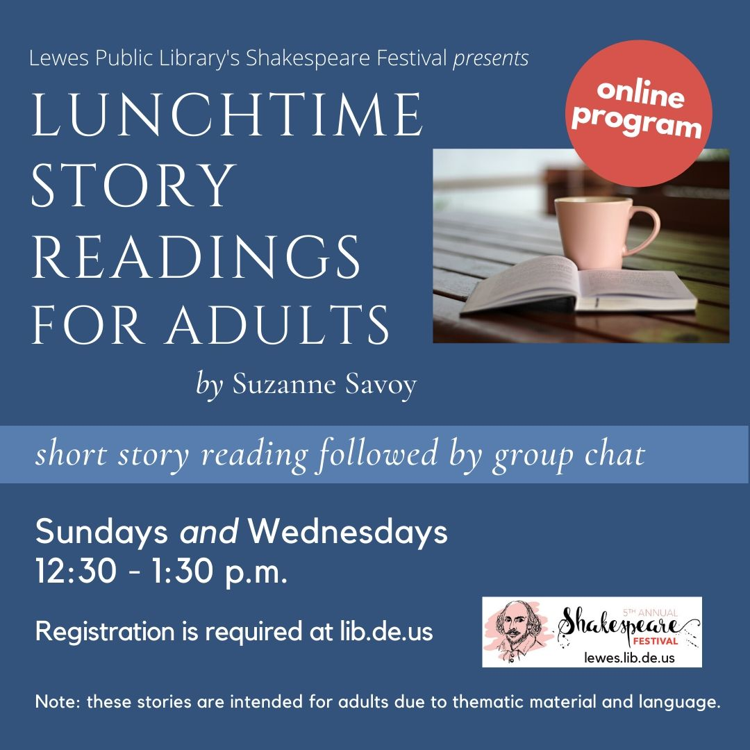 Lunchtime Story Readings for Adults by Suzanne Savoy