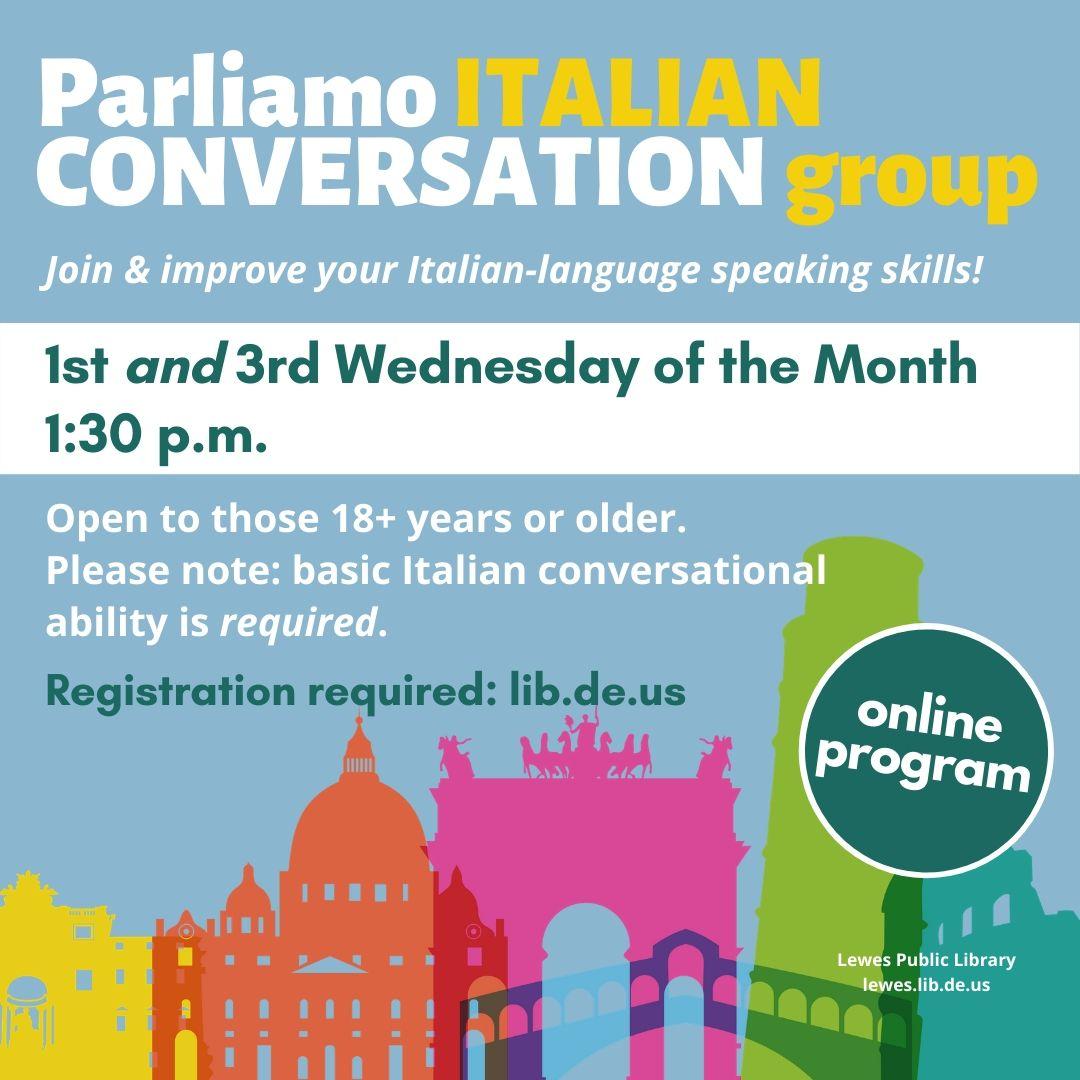 Parliamo Italiano | Italian Conversation Group