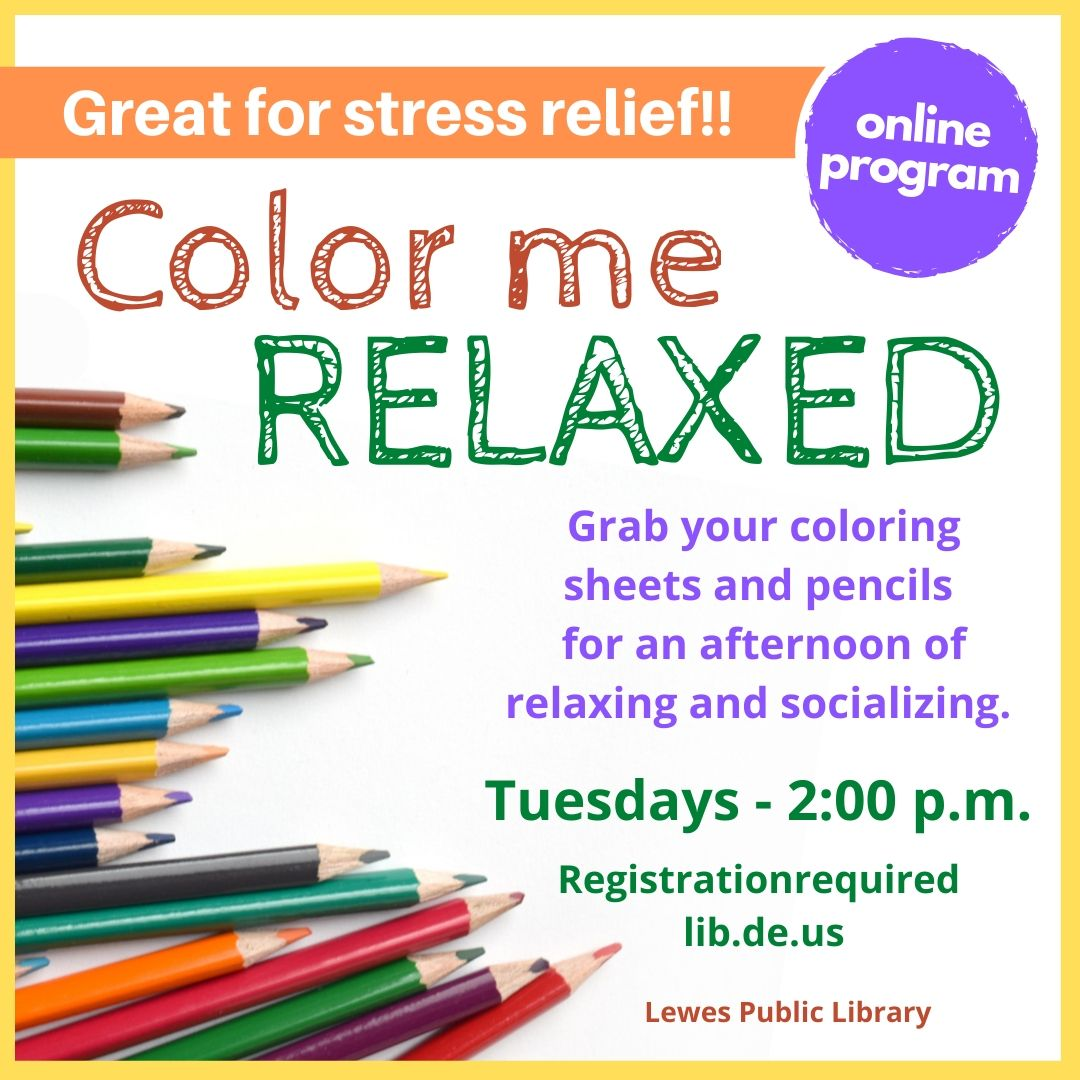 Coloring Club for Adults with Lewes Public Library