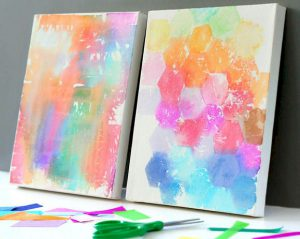 DIY - Tissue Paper Painting with the Dover Public Library
