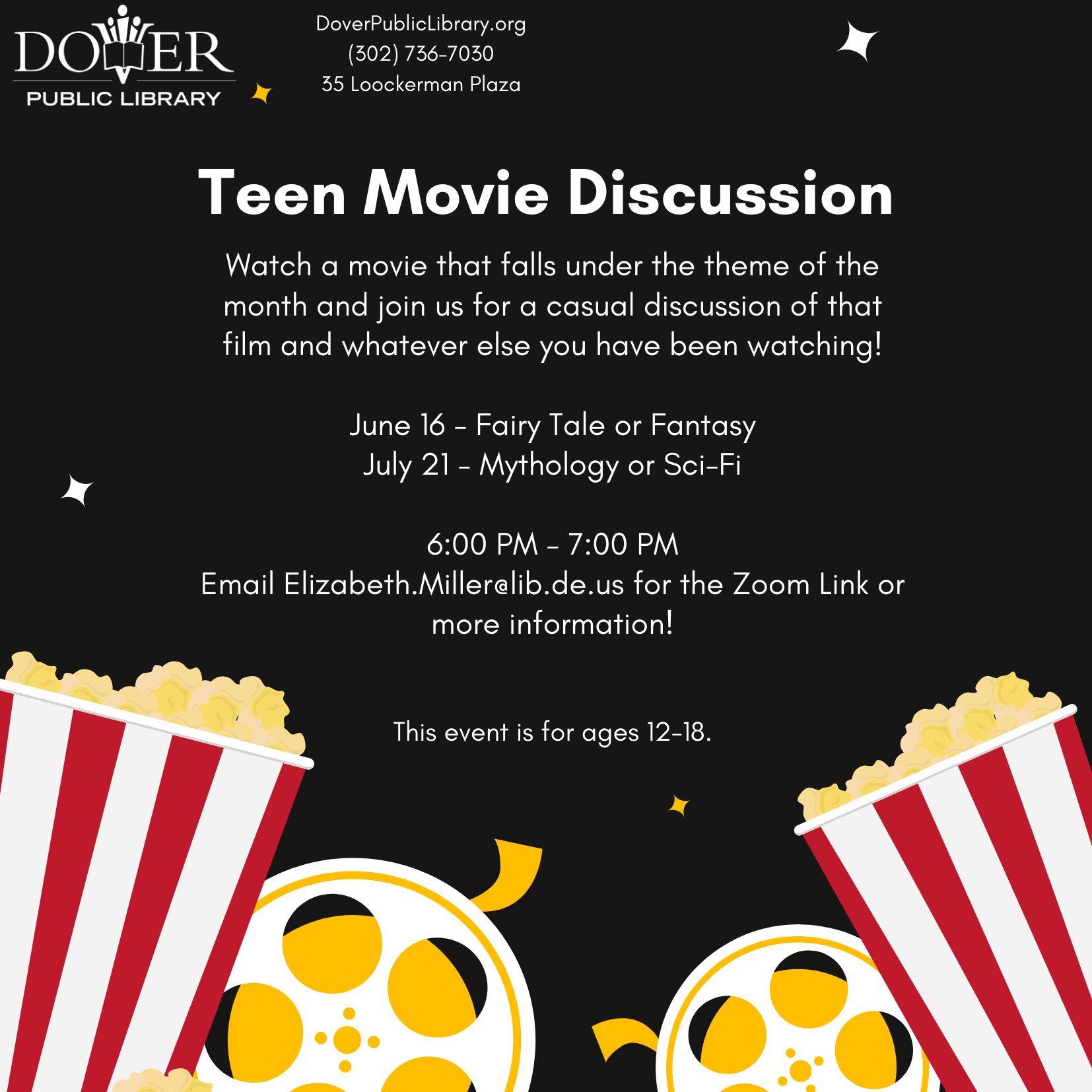Teen Movie Discussion with the Dover Public Library