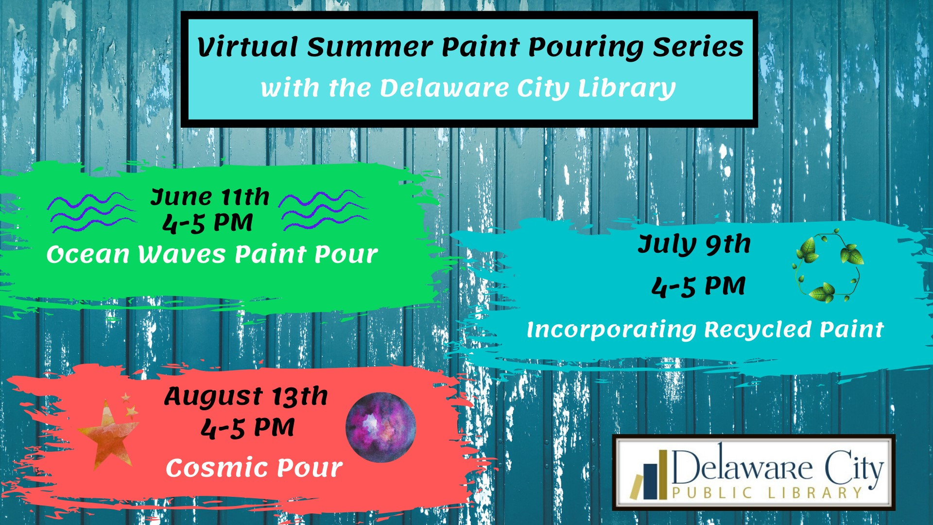 Virtual Summer Paint Pouring Series