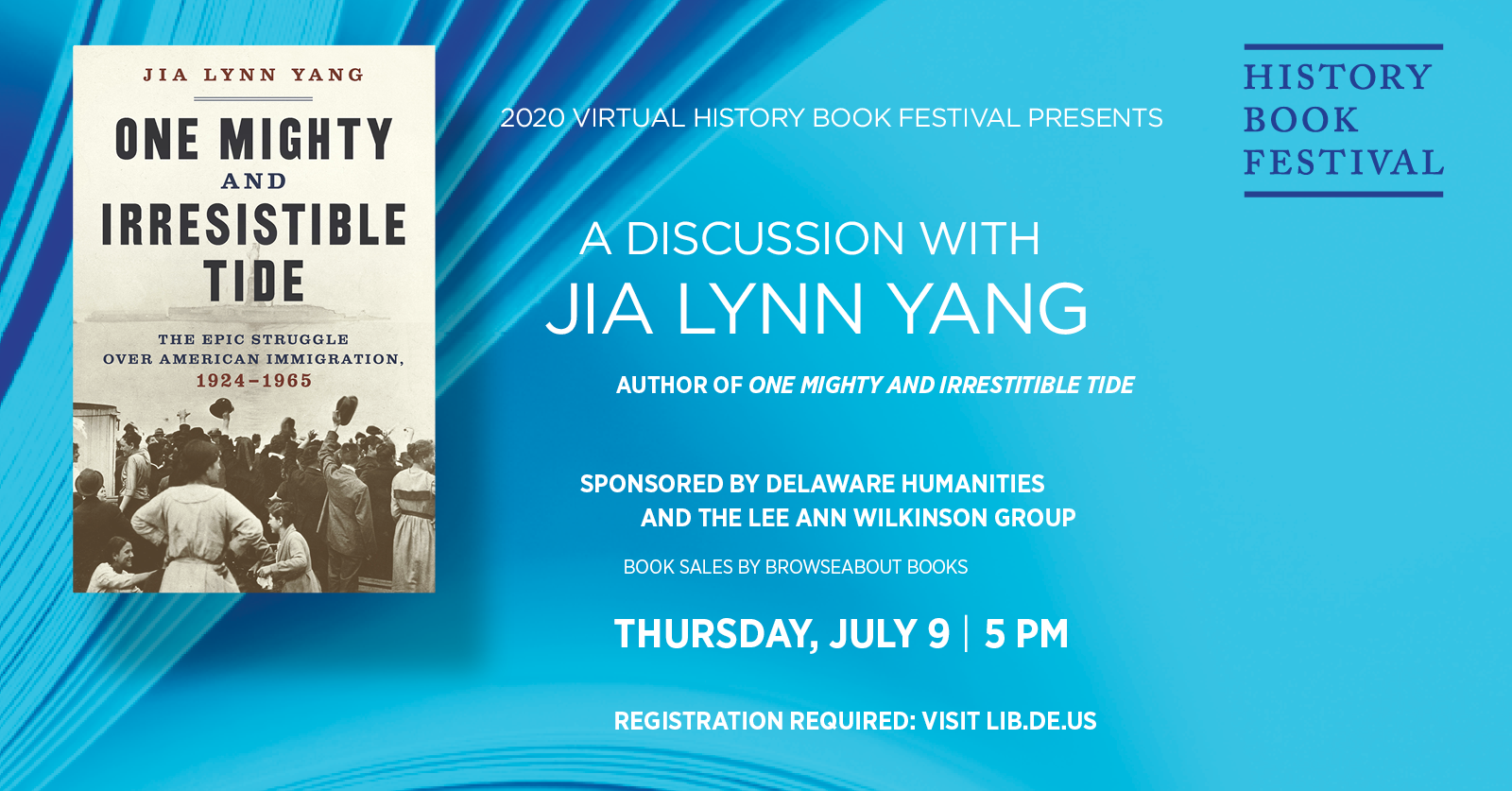 History Book Festival presents Jia Lynn Yang | One Mighty and Irresistible Tide