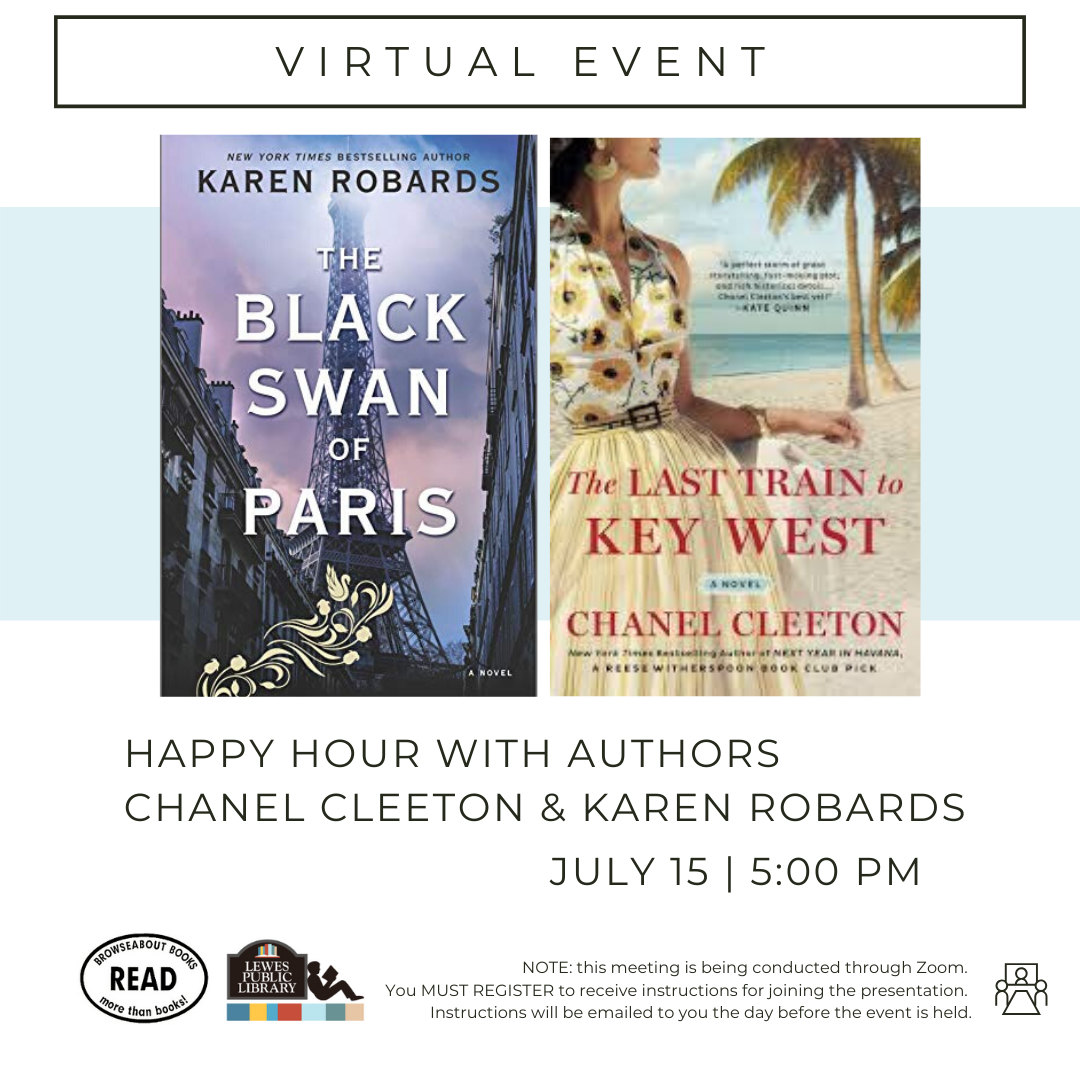 Happy Hour with Authors Chanel Cleeton and Karen Robards | Last Train to Key West and The Black Swan of Paris