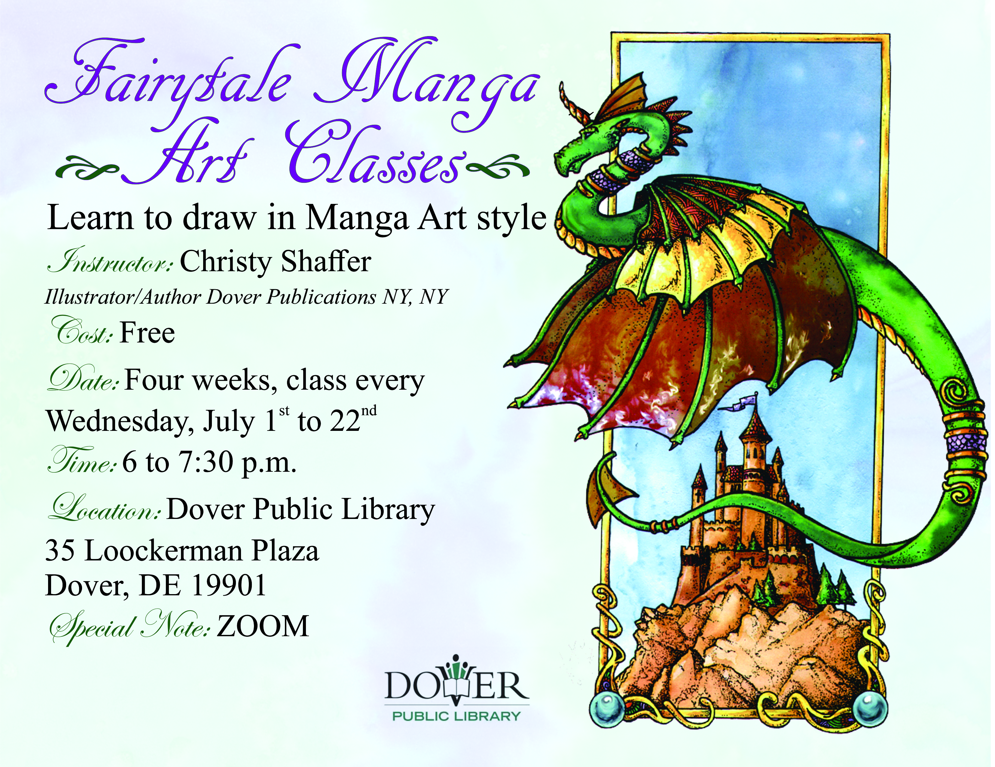 Fairytale Manga Drawing Class with the Dover Public Library