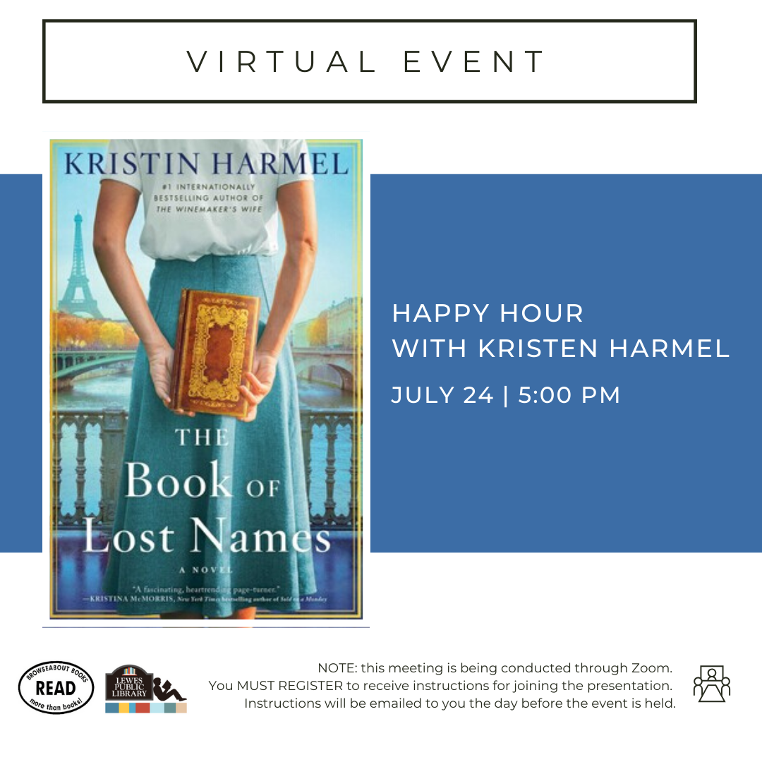 Happy Hour with Kristin Harmel | The Book of Lost Names
