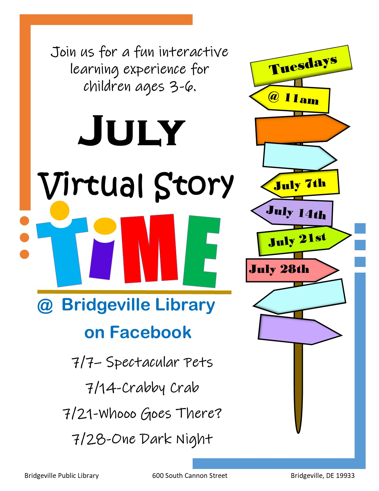 Story Time at the Bridgeville Library