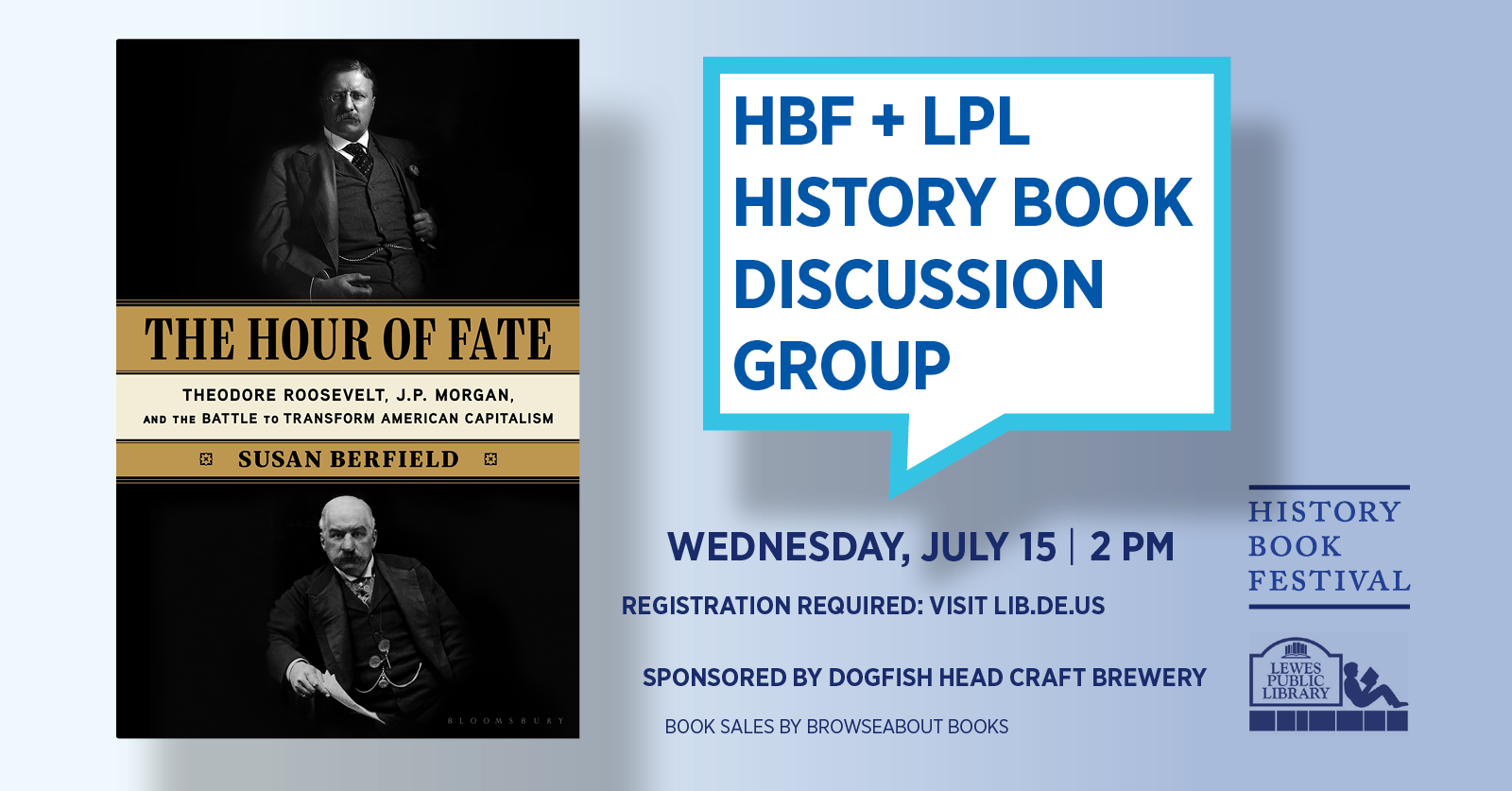 History Book Festival presents Susan Berfield | The Hour of Fate