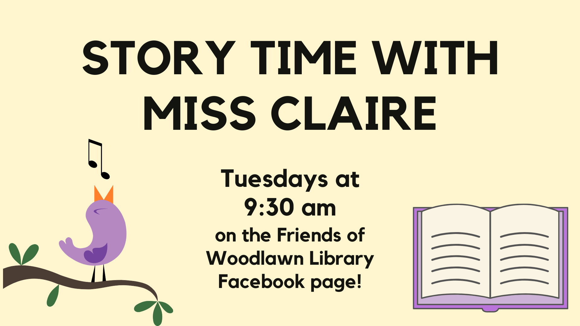 Story Time with Miss Claire from the Woodlawn Library