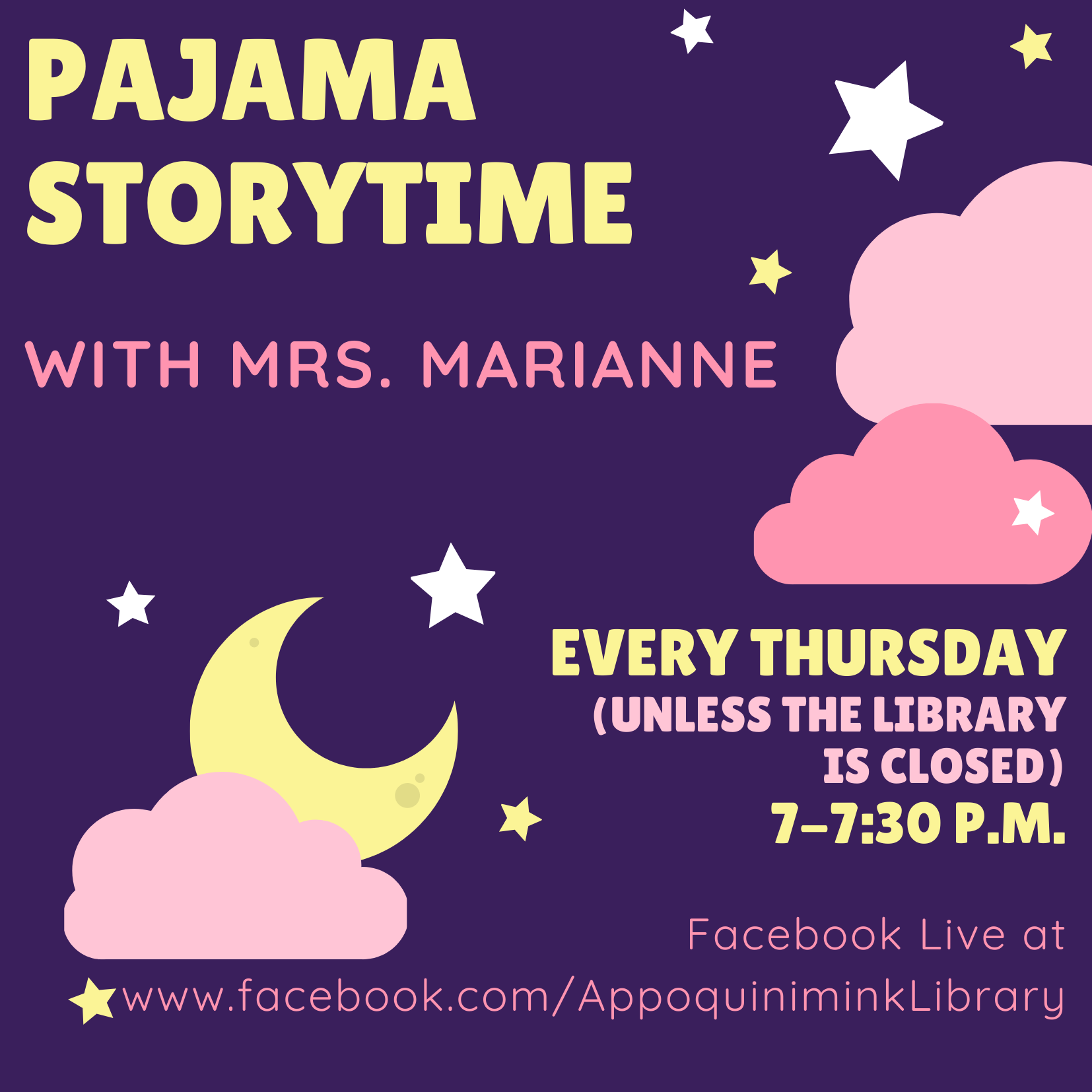Pajama Storytime with Mrs. Marianne