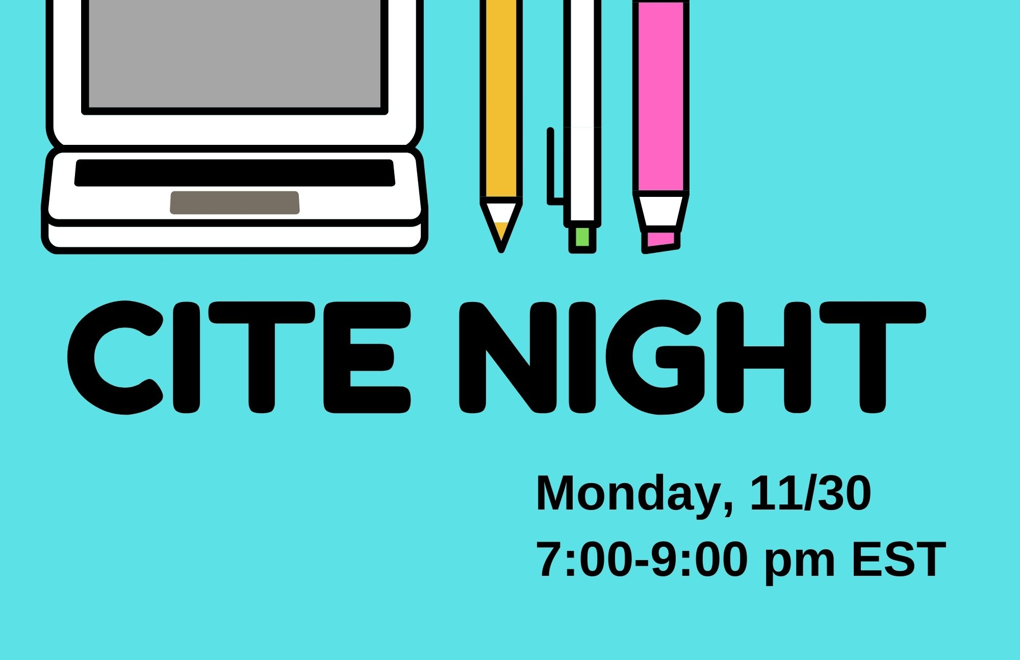 Cite Night: Citation Help with Peer Research Mentors