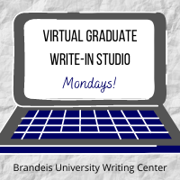 Virtual Graduate Write-in Studio