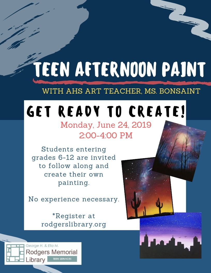 Teen Afternoon Paint