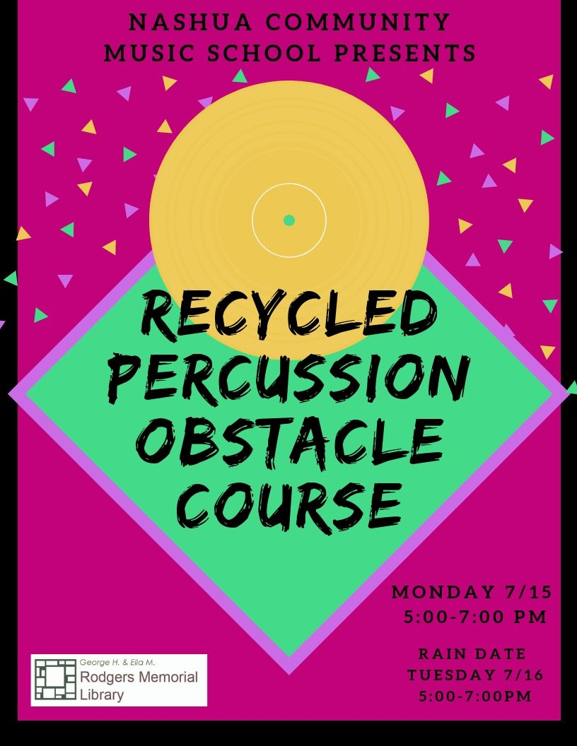 Rain Date: Recycled Percussion Obstacle Course